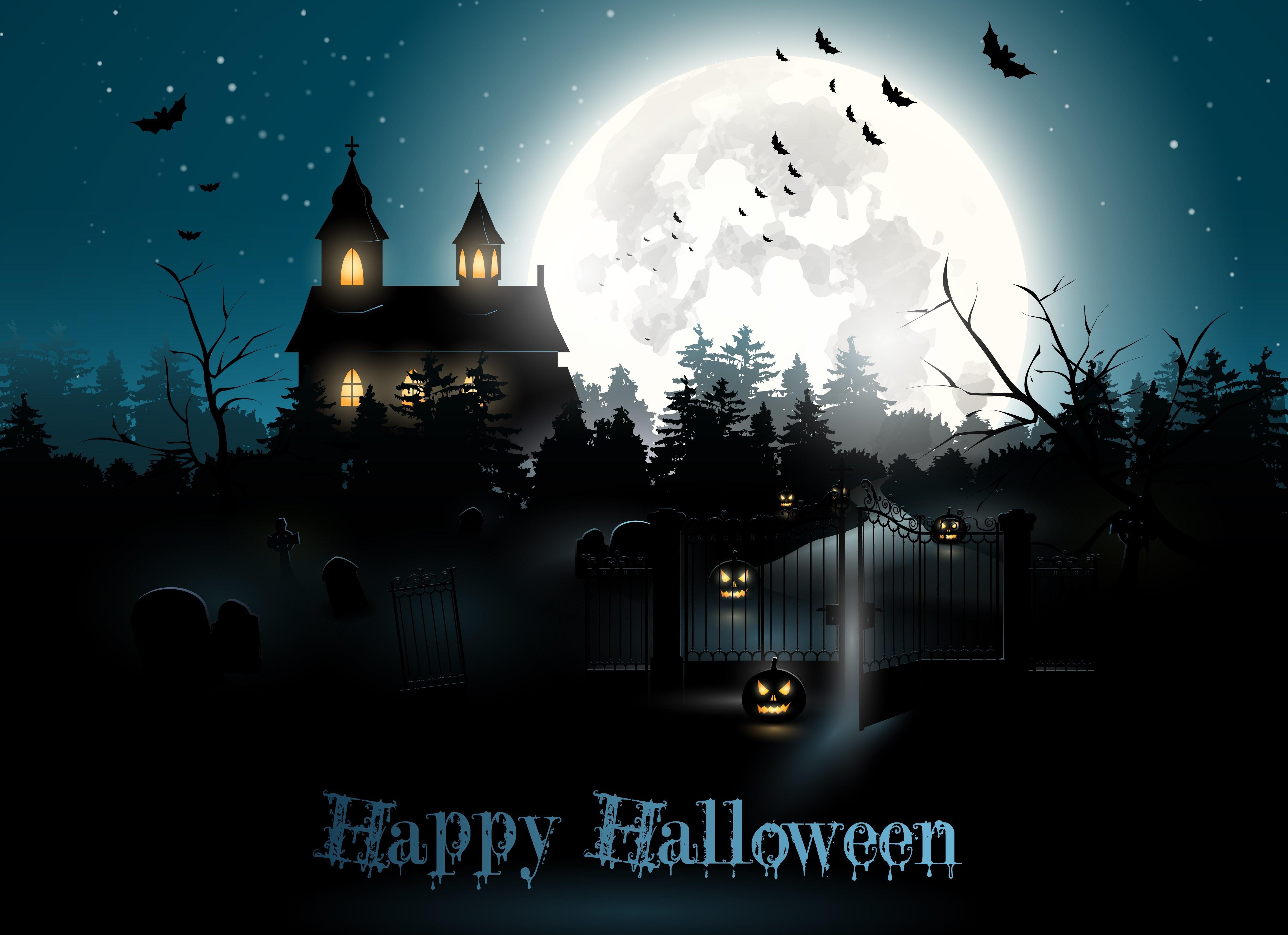 Popular Wallpaper Halloween Haunted - halloween-4953x3597-moon-cemetery-night-pumpkin-6025  Trends_72424.jpg