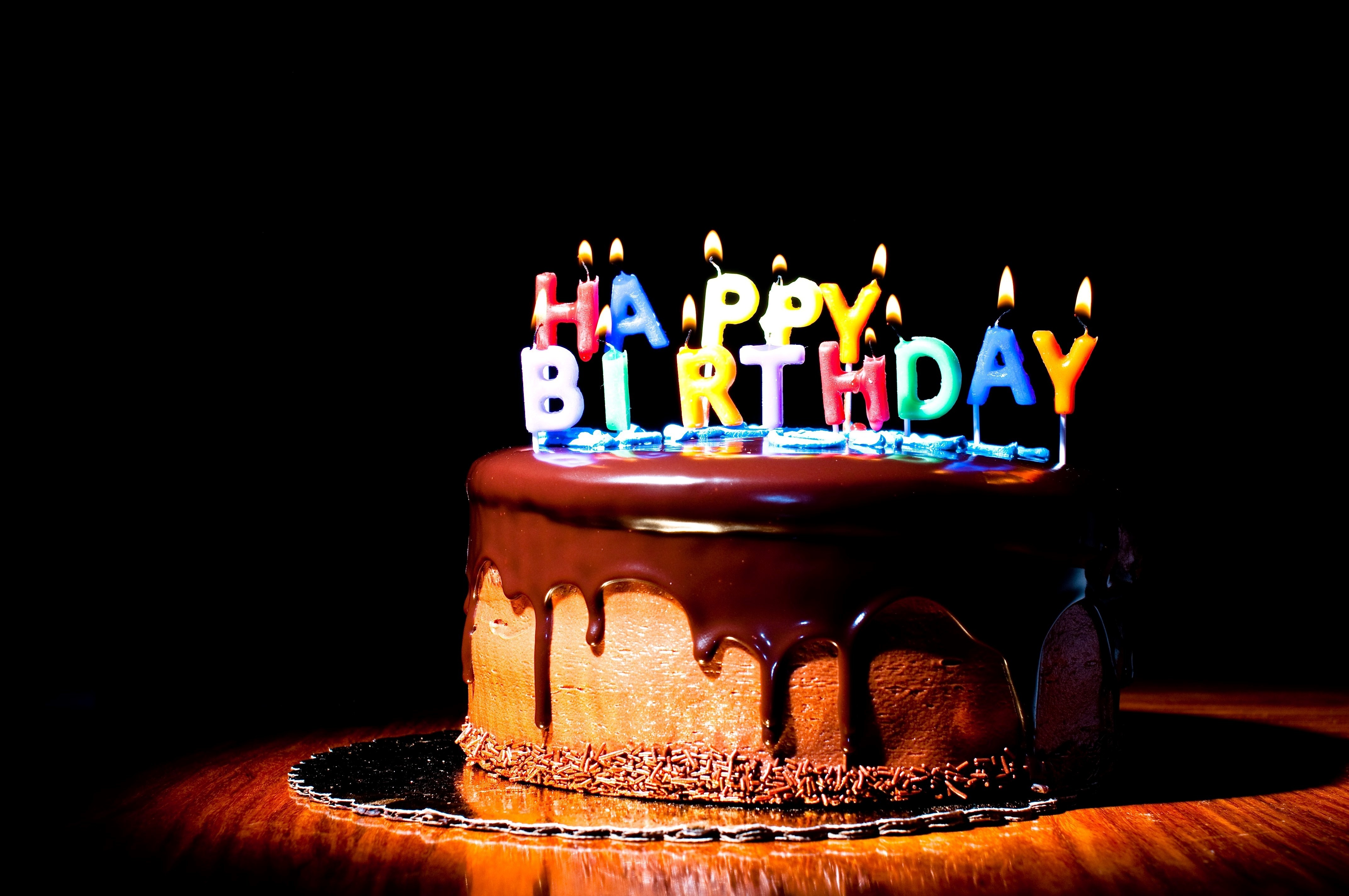 wallpaper happy birthday cake candles fire holiday happiness on birthday cake candles pictures