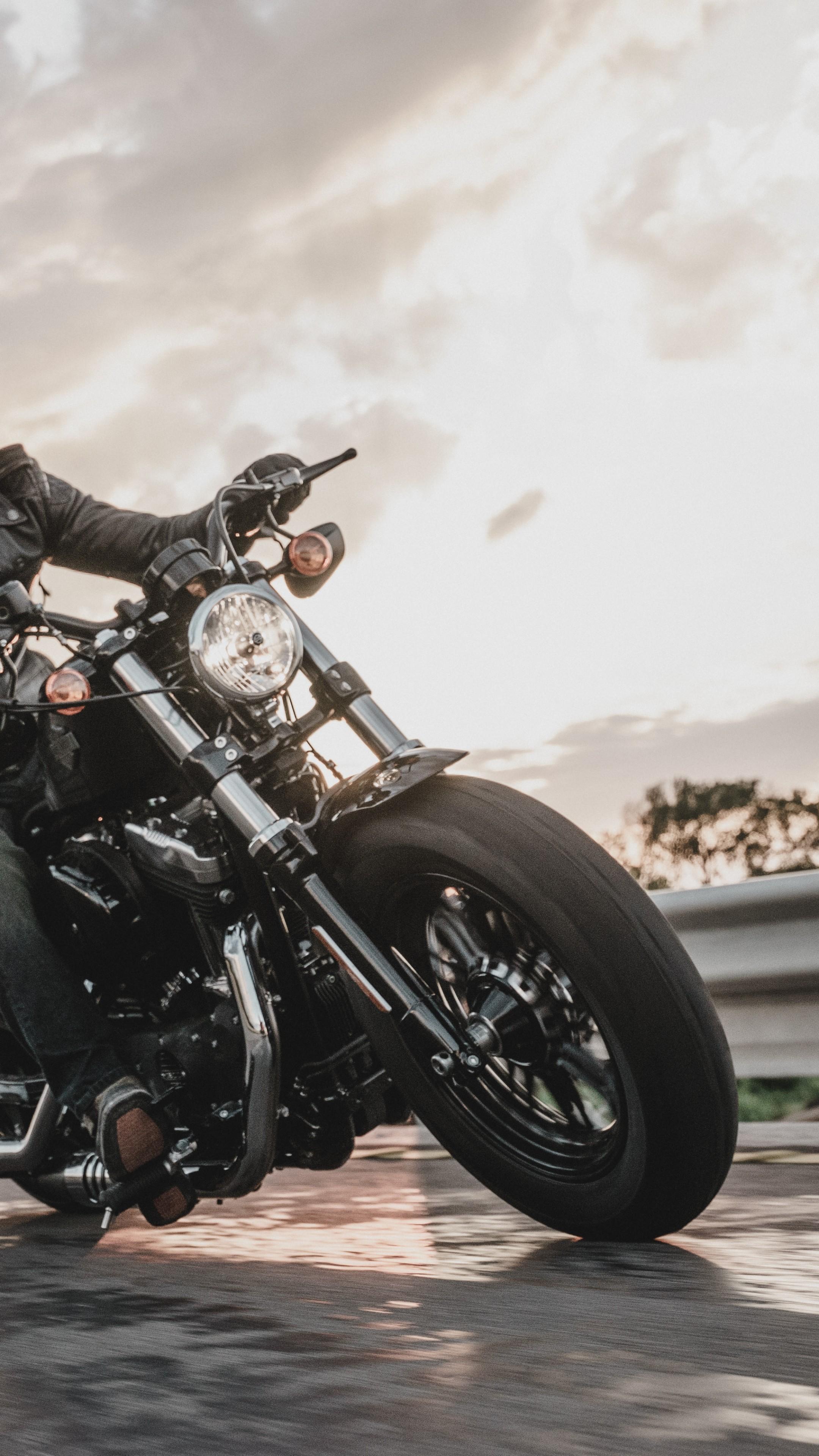 Wallpaper Harley Davidson Iron 883 Black Bike Year 2016
