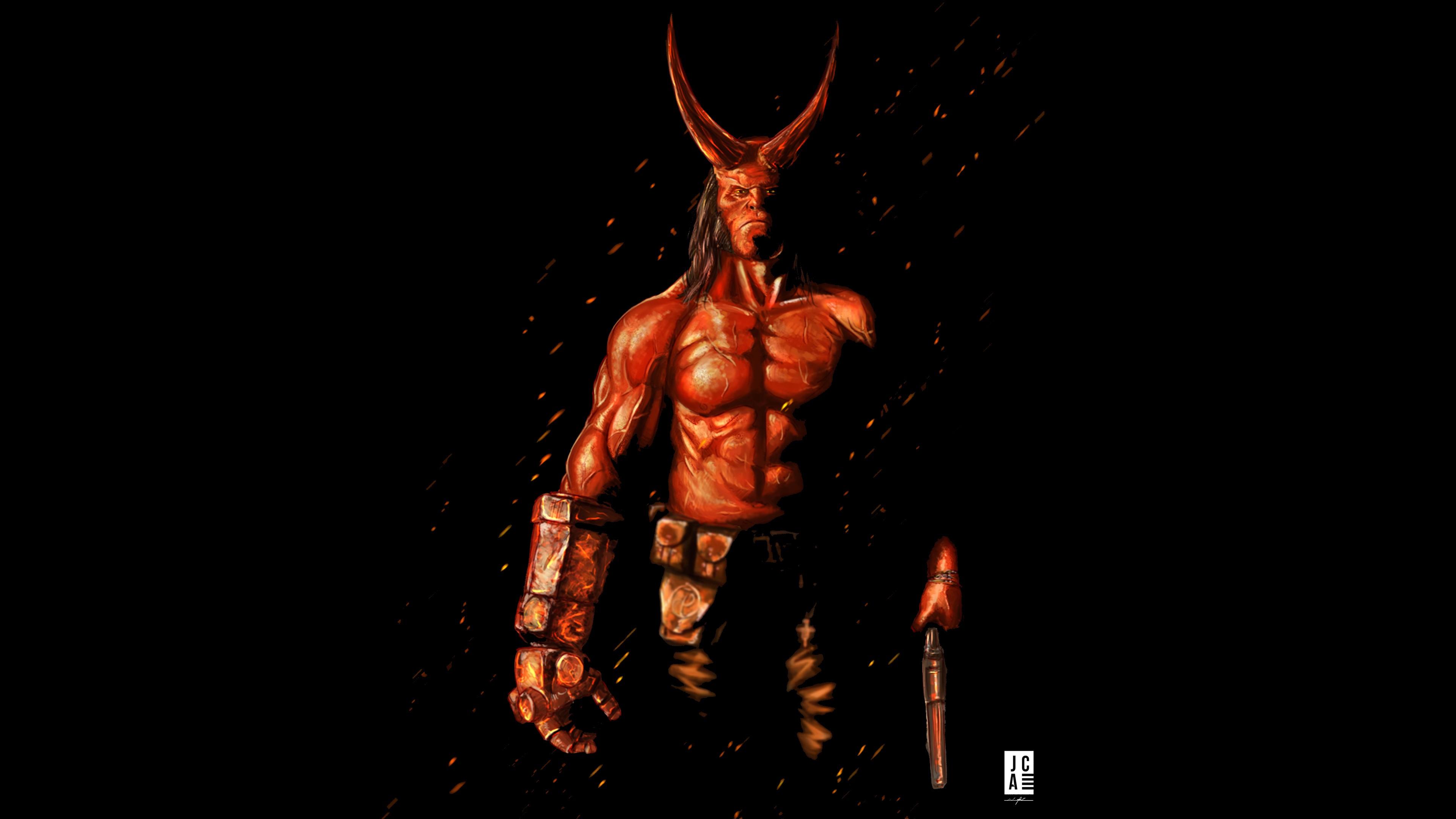 Wallpaper Hellboy David Harbour Poster 4k Movies 18269