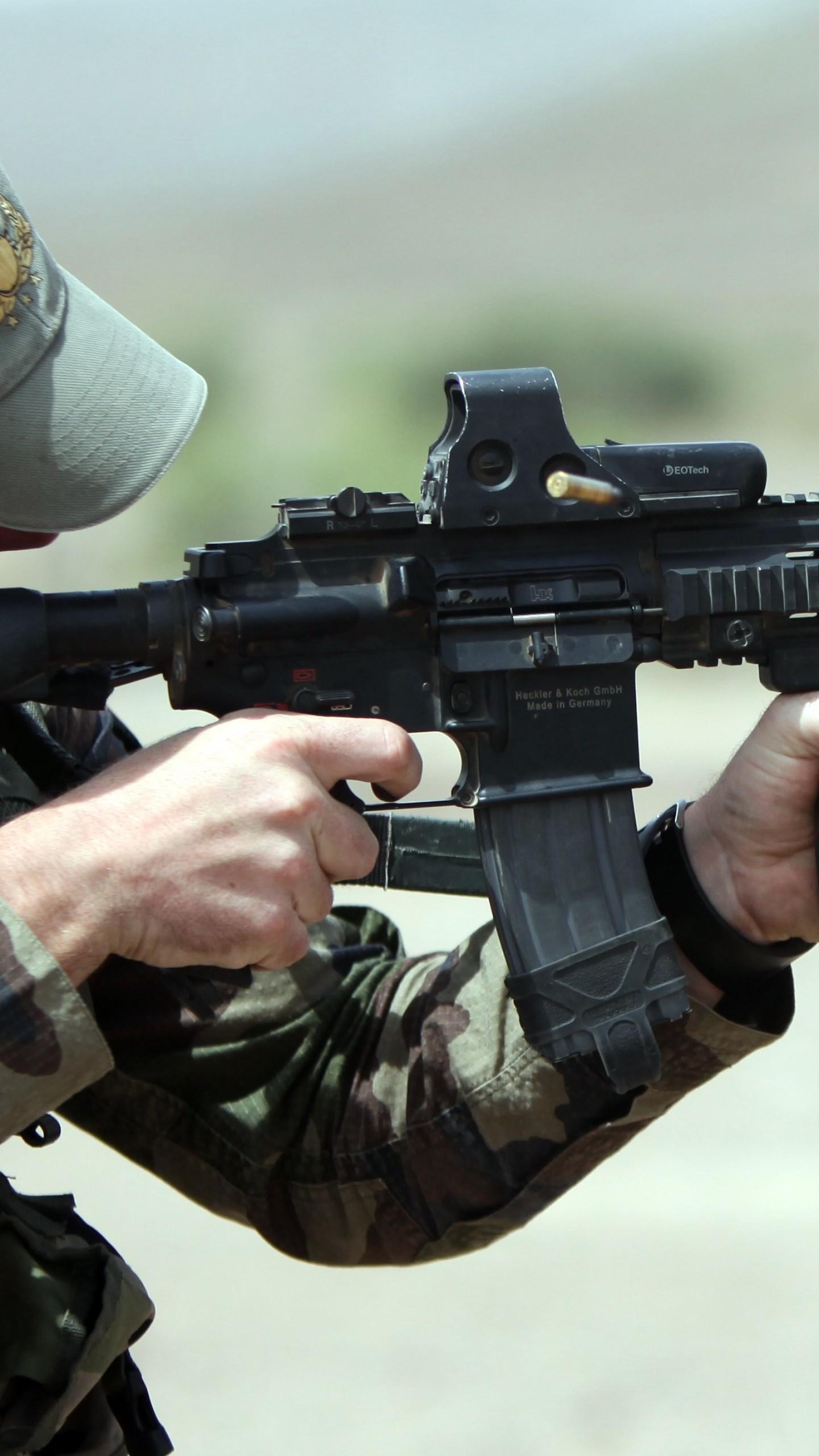 Wallpaper Hk416 Soldier Heckler Amp Koch Assault Rifle