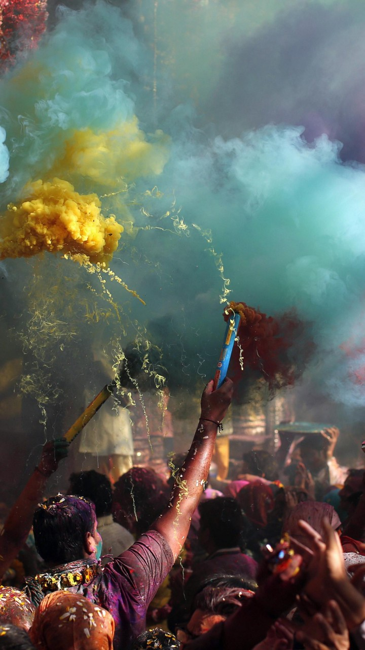 Wallpaper Holi Festival Of Colours, Indian holiday, spring ...
