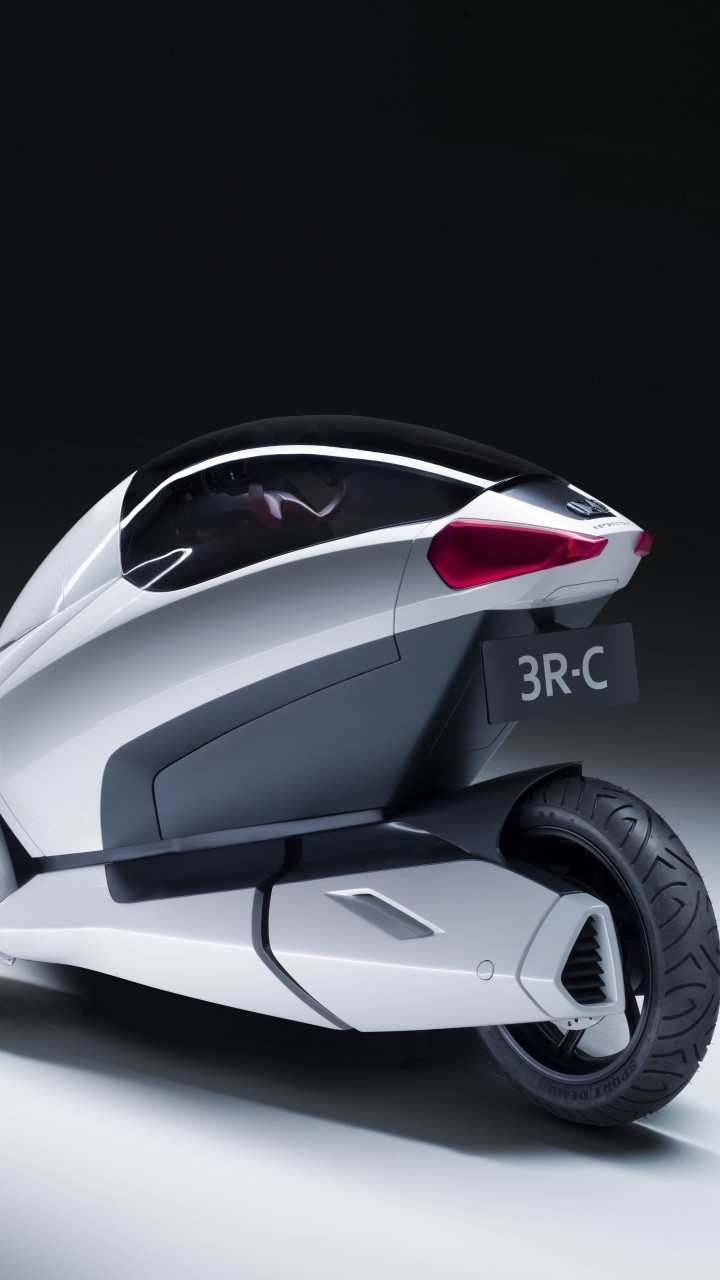Electric Sports Bike >> Wallpaper Honda 3R-C, concept, Honda, three-wheeled, electric cars, vehicle, bike, back, Cars ...