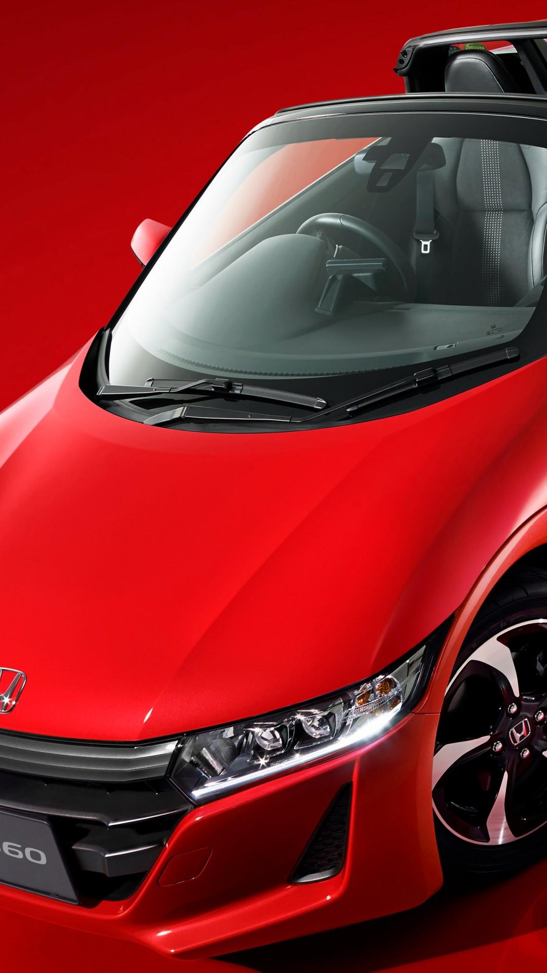 Wallpaper Honda S660, Concept, red, future car, Tokyo ...