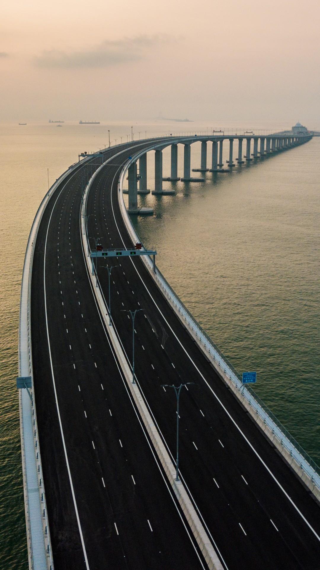 Wallpaper Hong Kong-Zhuhai-Macau Bridge, China, 4K, Travel