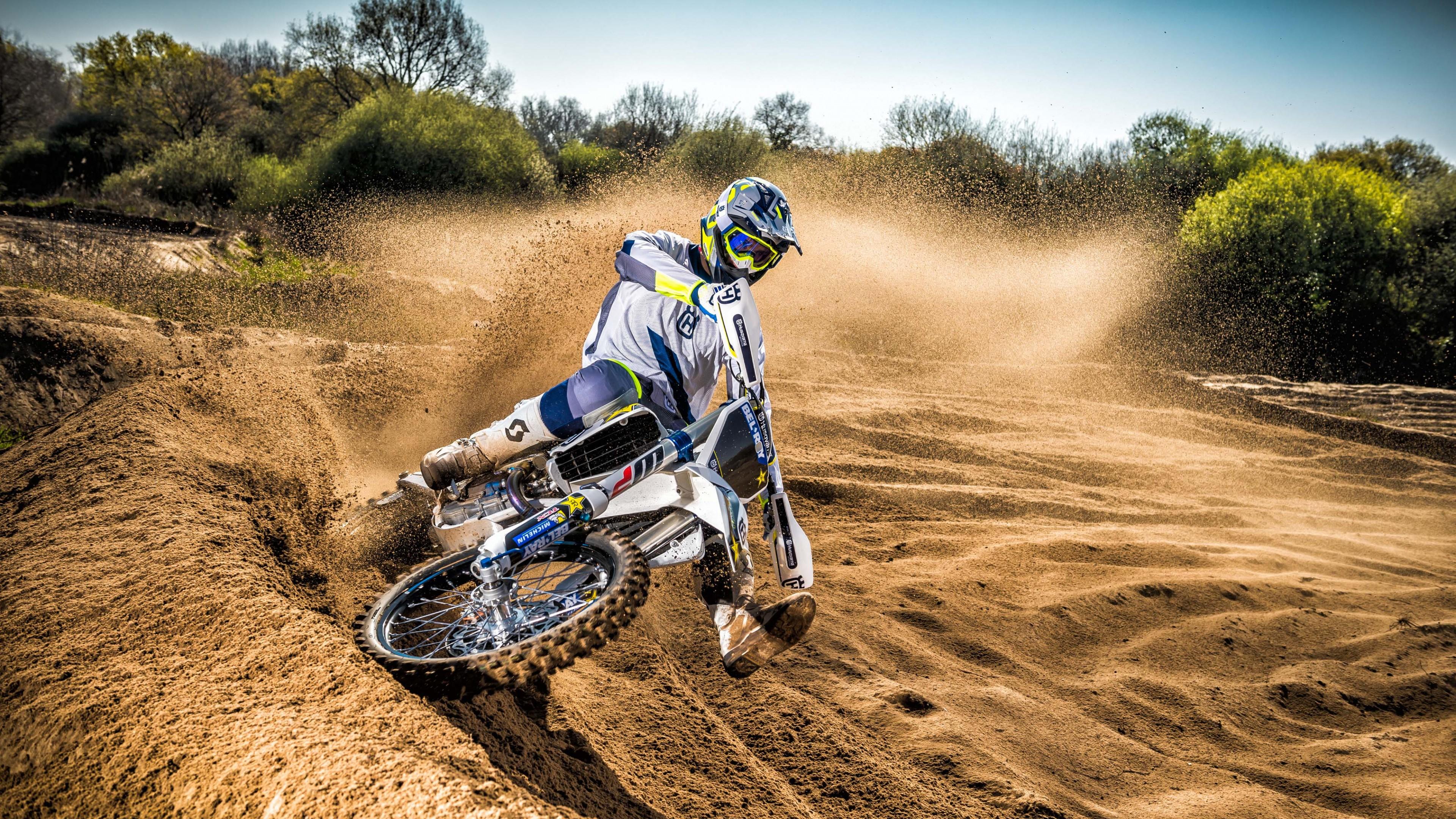 Wallpaper Husqvarna TC250, Drift, Motocross Range Unveiled