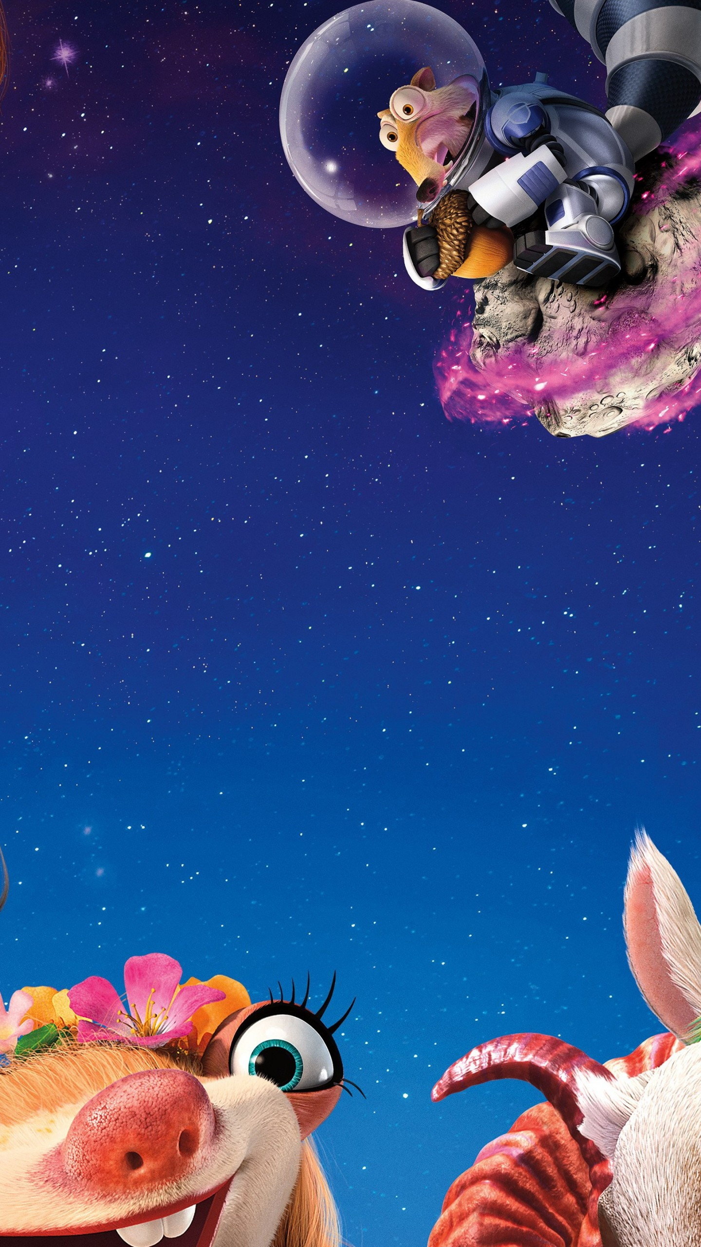 Wallpaper Ice Age 5 Collision Course Diego Manny Scrat Sid
