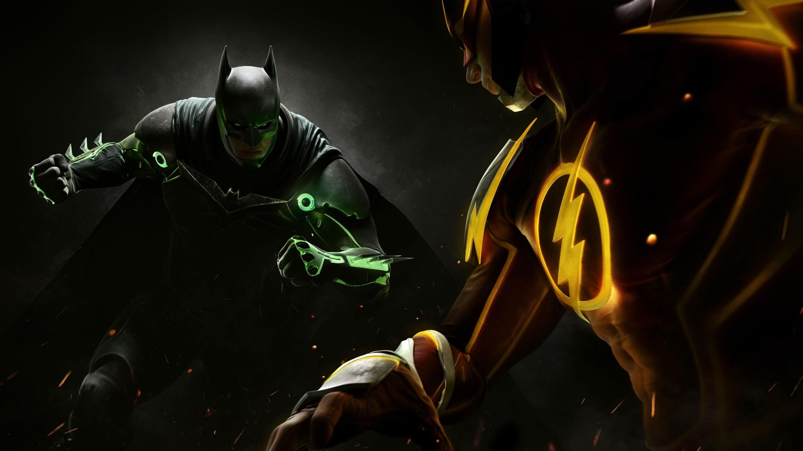 Wallpaper Injustice 2 Batman Superman Fighting PC PlayStation