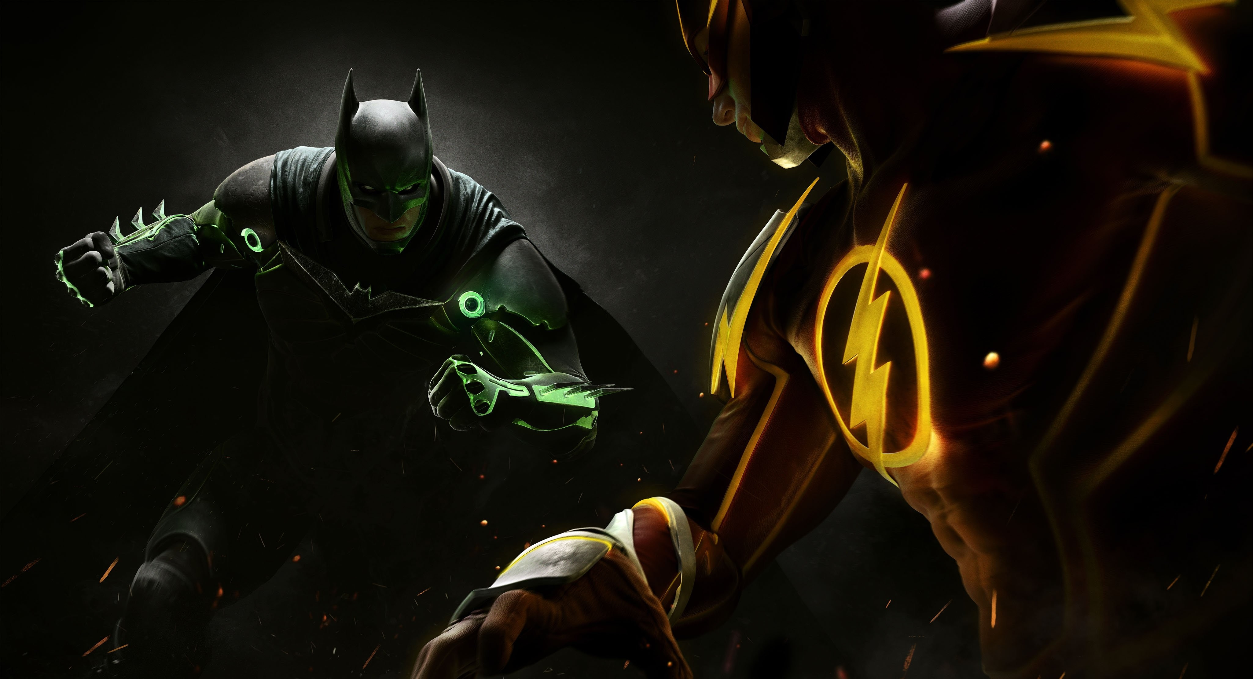 Wallpaper Injustice 2 Batman Superman Fighting PC PlayStation