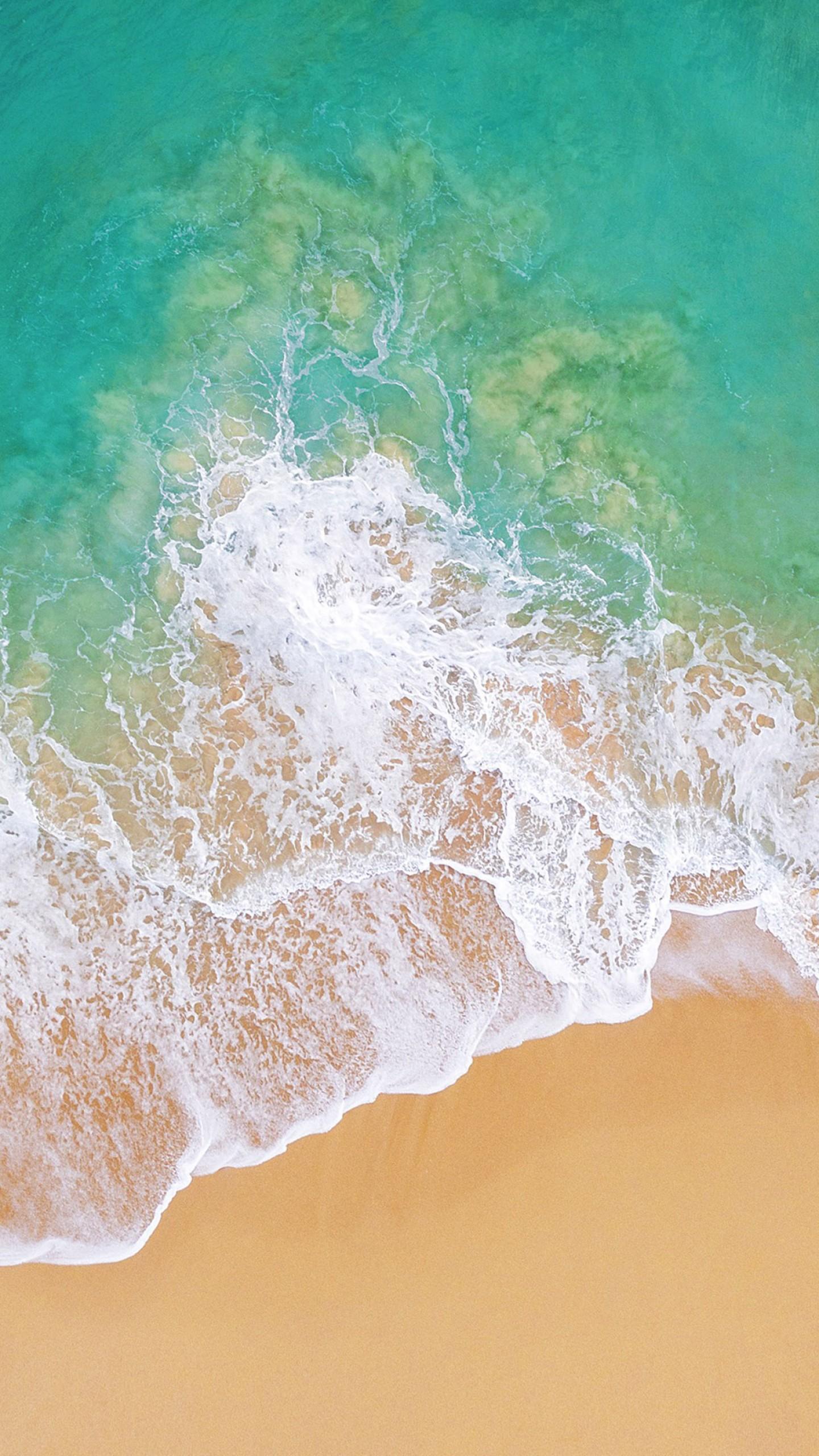 Wallpaper IOS 11, 4k, 5k, Beach, Ocean, OS #13655