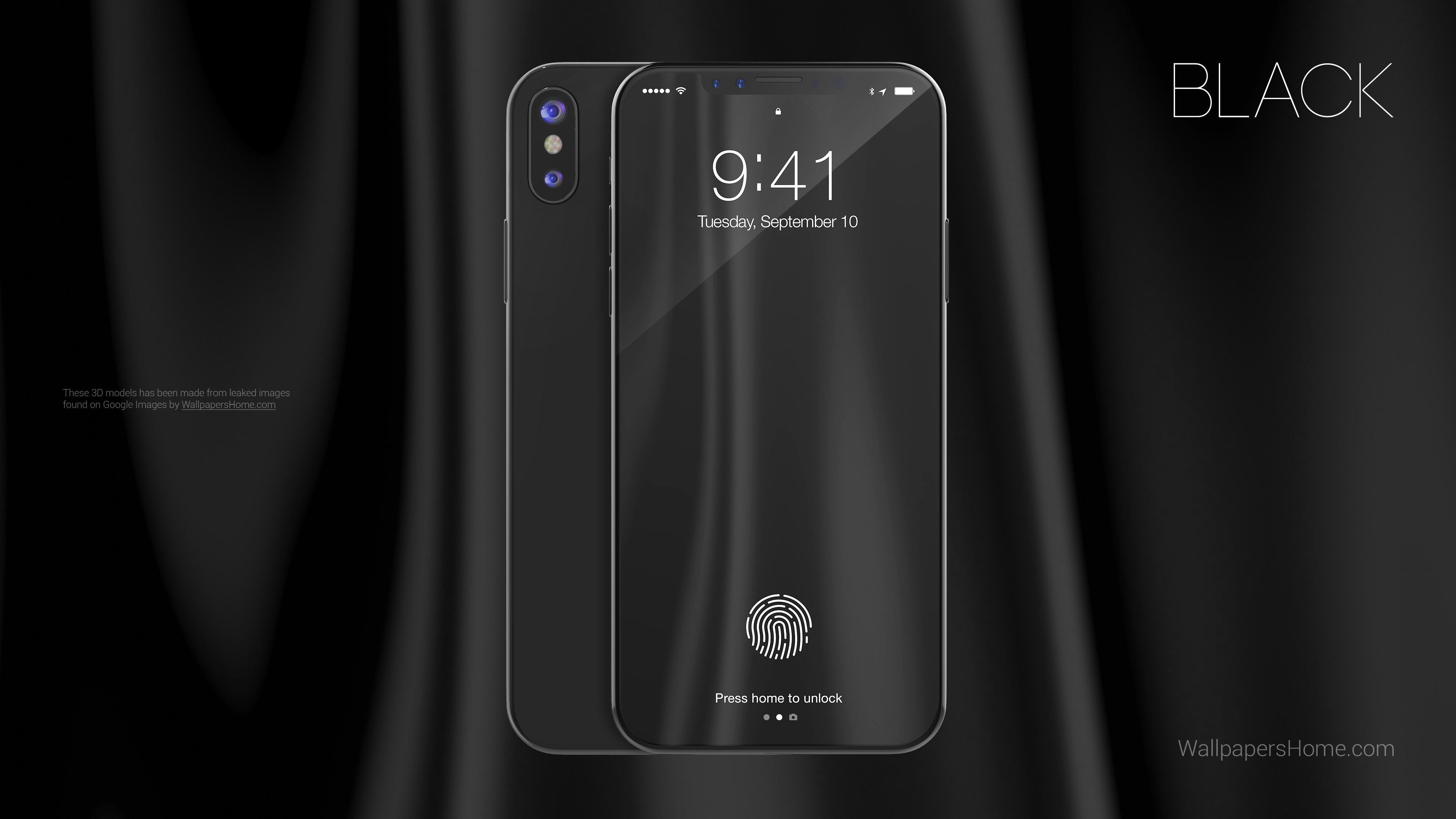 Iphone X Iphone 10 Hd Wallpapers: Wallpaper IPhone X, Black, 3D, Leaked, WWDC 2017, 4k, Hi