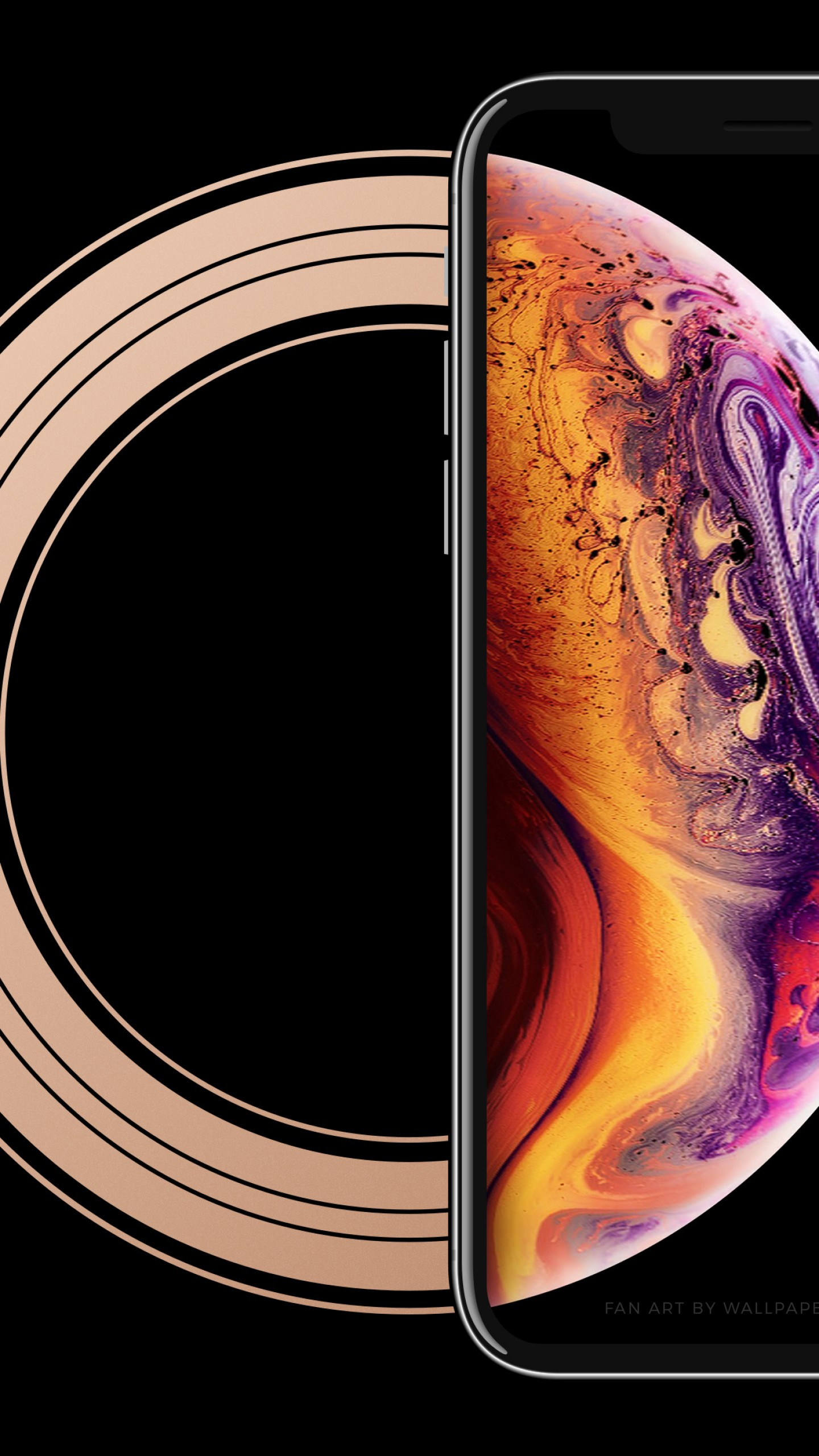 Wallpaper iPhone XS, 4K, OS 20235