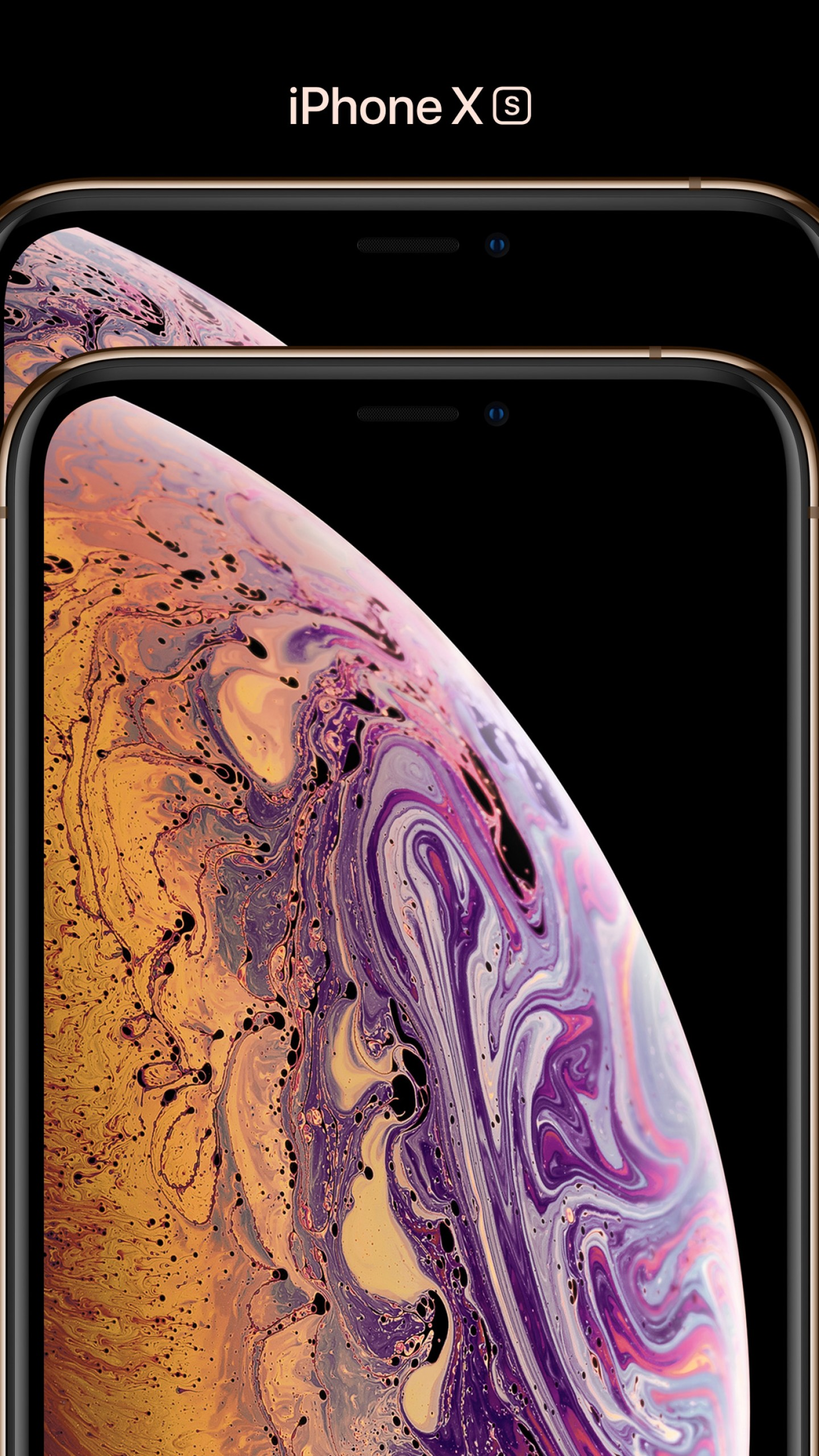 Wallpaper iPhone XS, iPhone XS Max, gold, smartphone, 4k ...