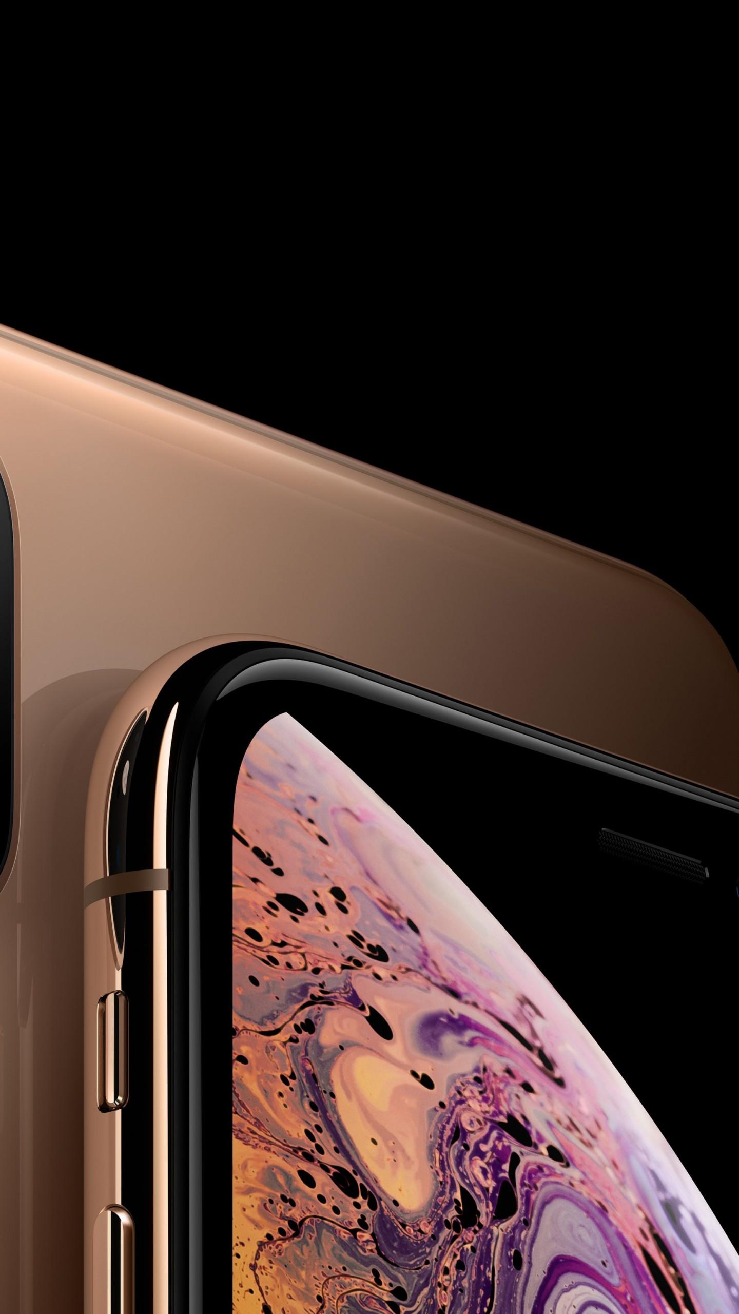 Wallpaper iPhone XS, iPhone XS Max, gold, smartphone, 5K ...