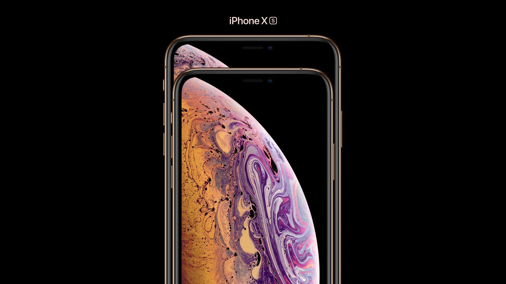 Wallpaper iPhone XS, iPhone XS Max, gold, smartphone, 4k, Apple September 2018 Event, HiTech 20334