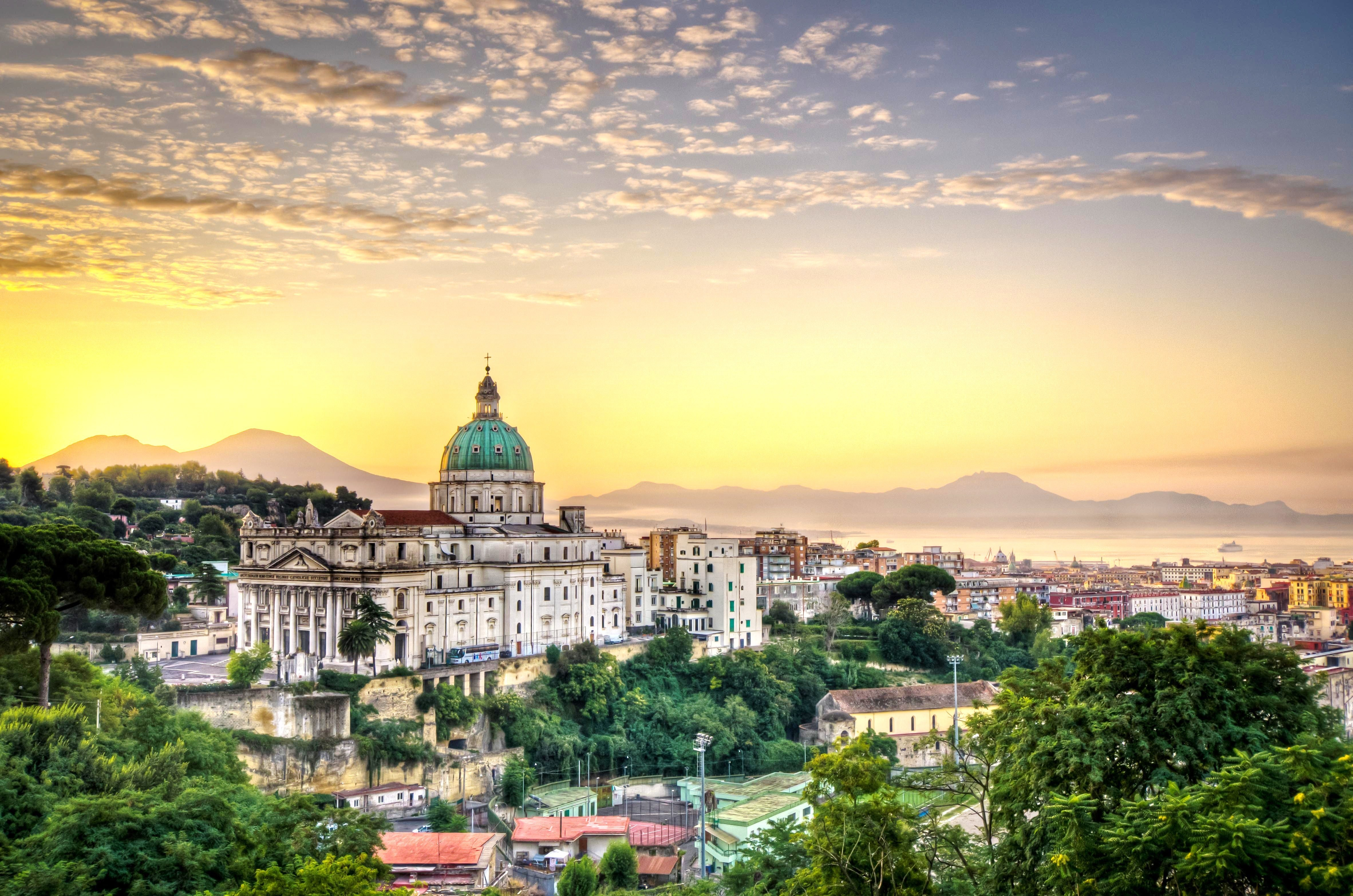 Wallpaper Italy Naples Napoli City Sky Clouds Hotel Travel