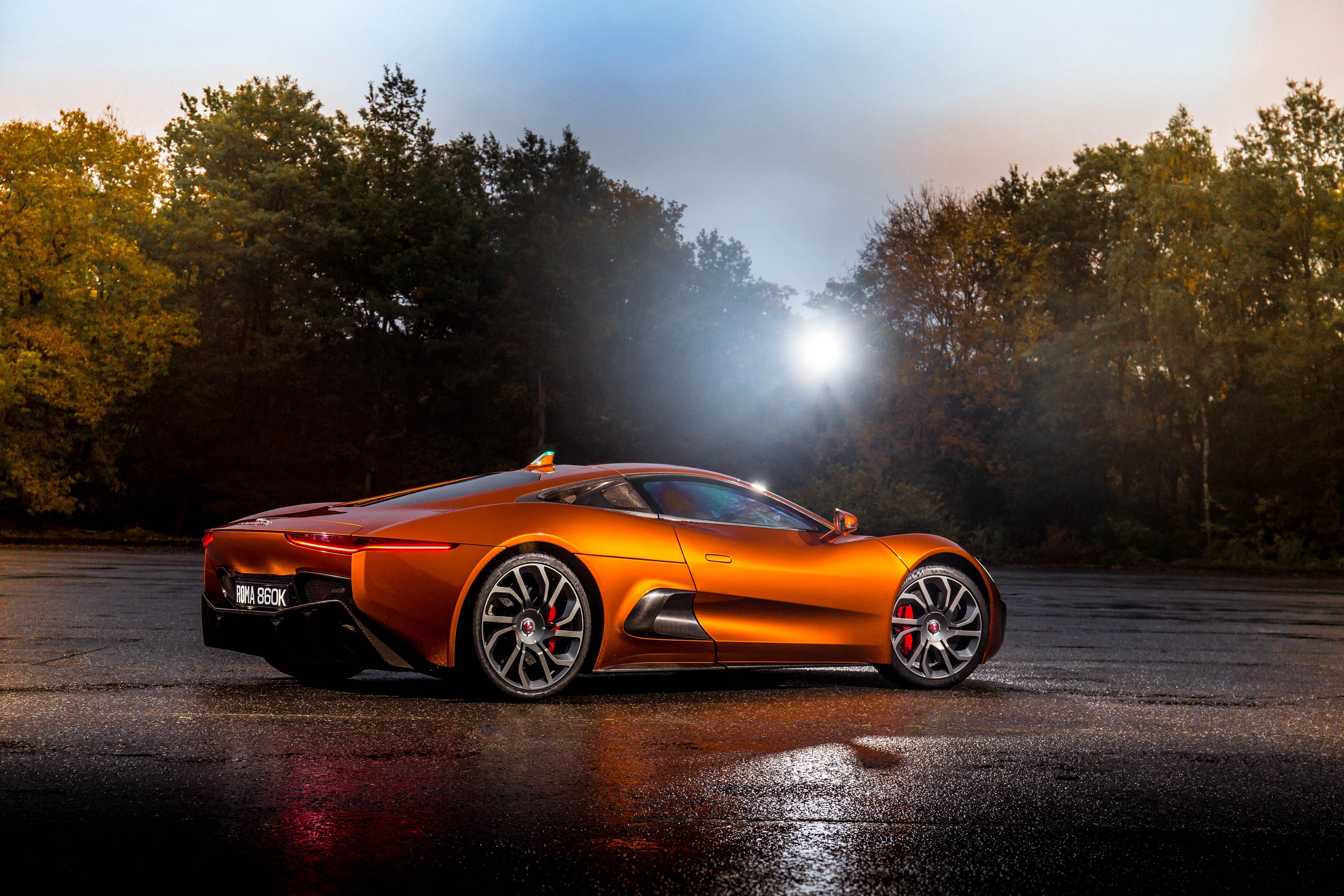 Wallpaper Jaguar C-X75, 007 Spectre, james bond, orange ...