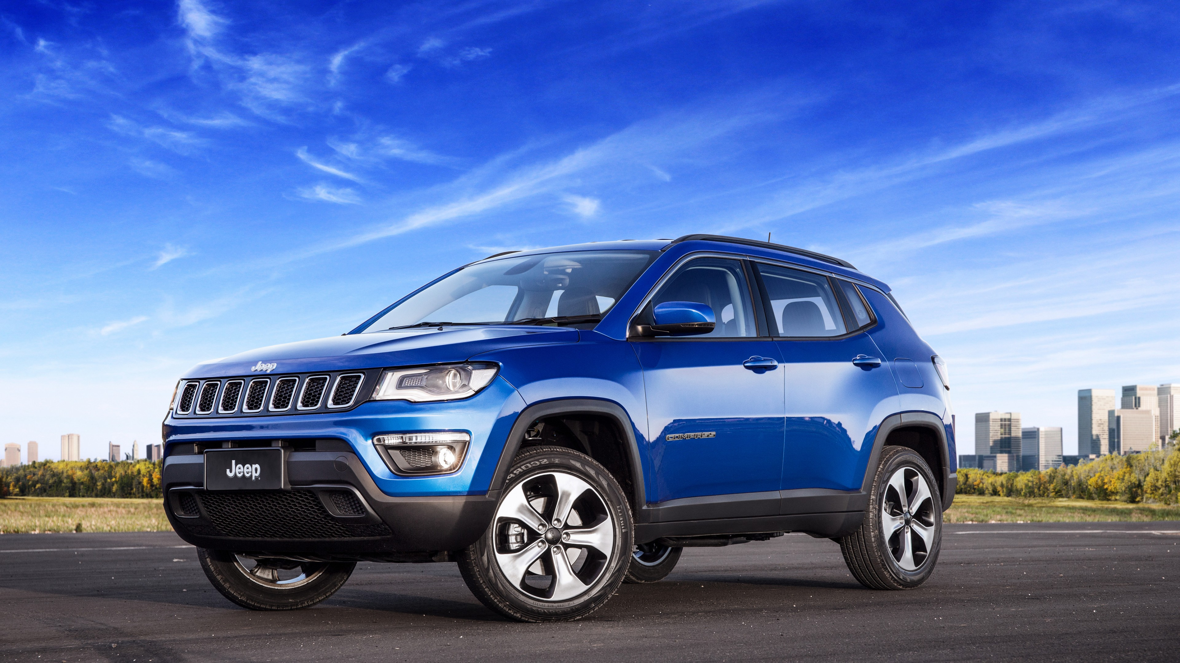Wallpaper Jeep Compass longitude, suv, blue, Cars & Bikes ...