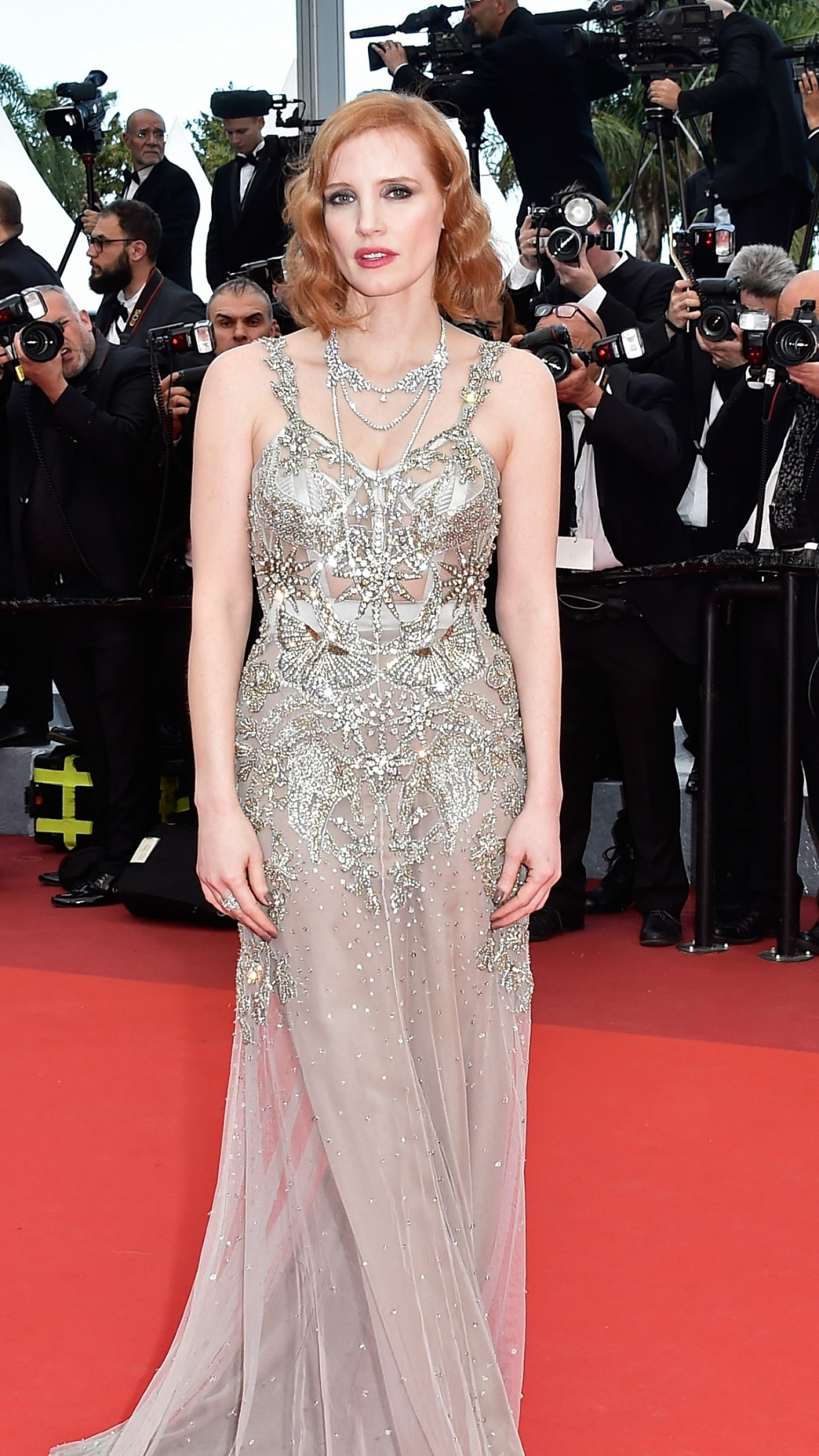 Wallpaper Jessica Chastain Cannes Film Festival 2016 Red