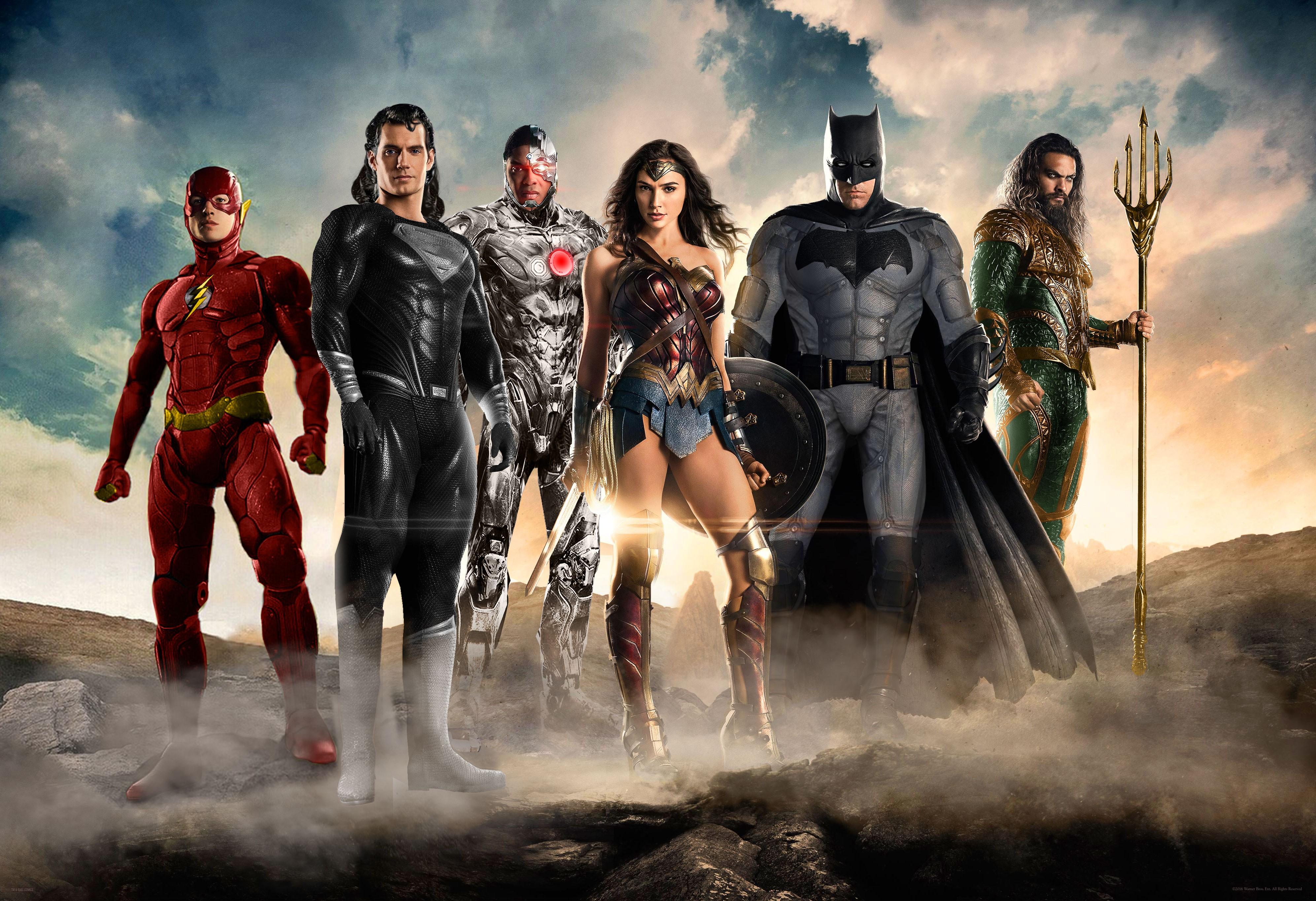Wallpaper Justice League 2017 Movies Flash Superman: Wallpaper Justice League, Superman, Batman, Wonder Woman