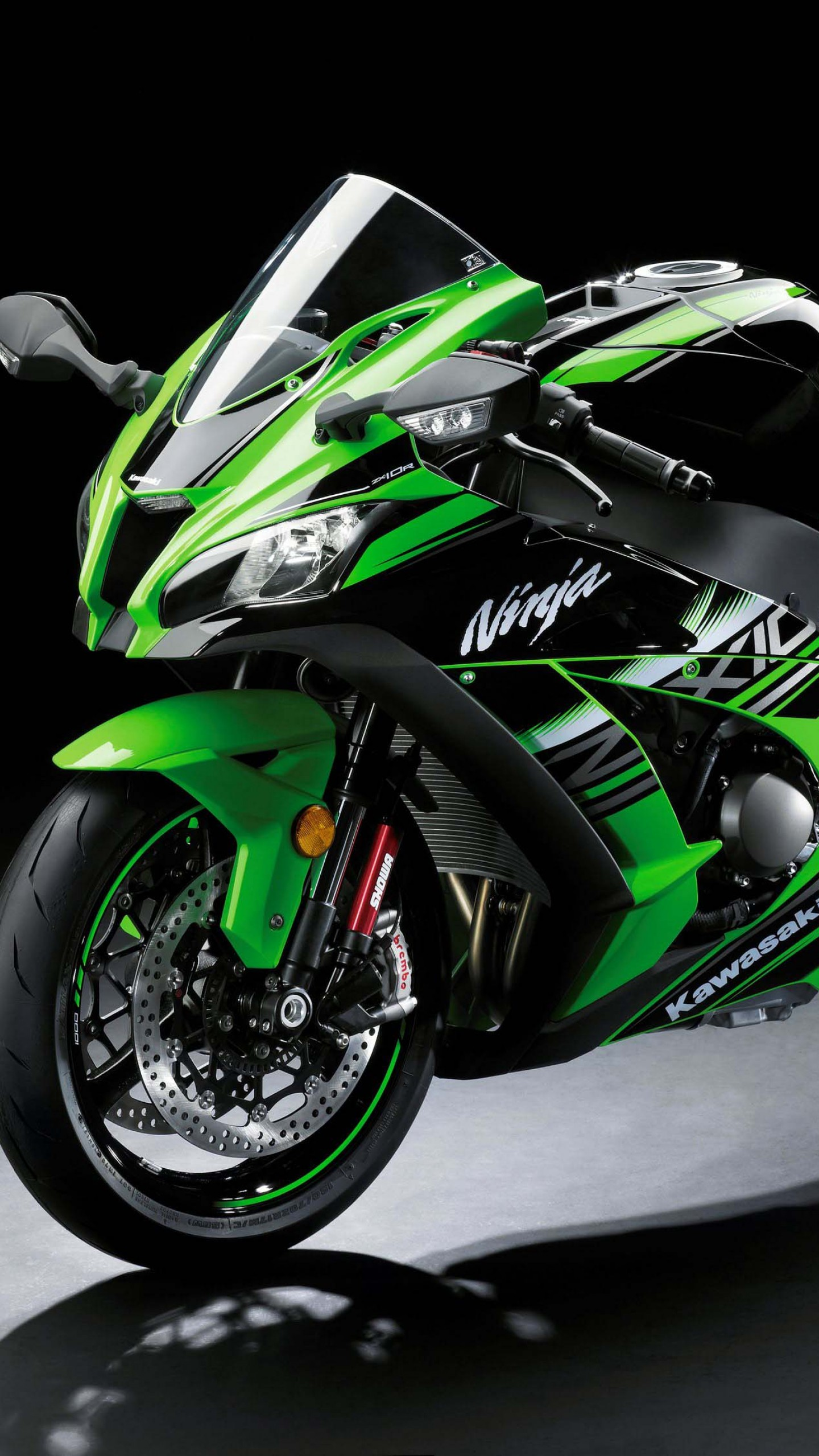 Wallpaper Kawasaki Zx 10r Intermot 2016 Worldsbk Green