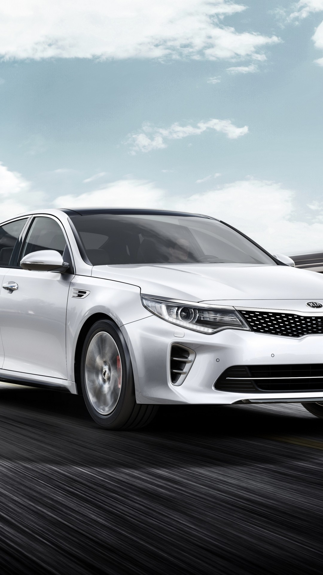 Wallpaper Kia Optima Gt Supercar White Luxury Cars