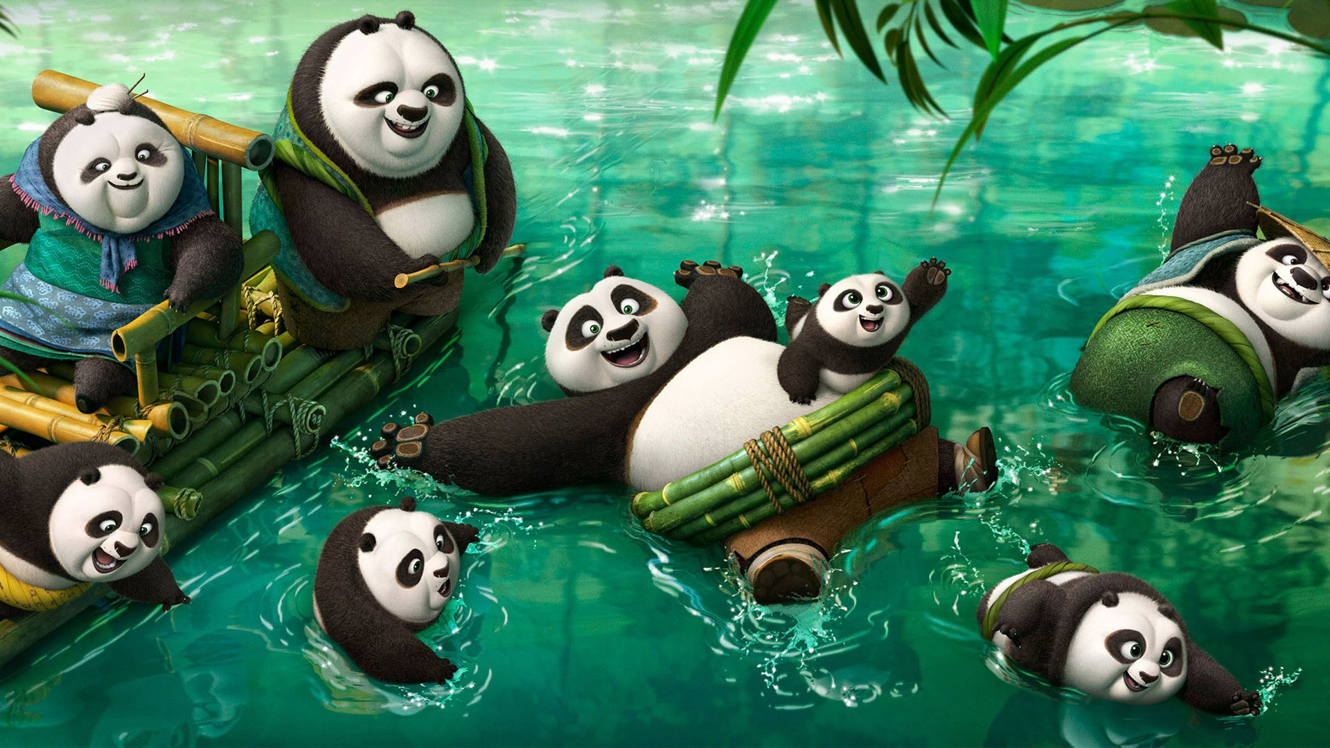 wallpaper kung fu panda 3, po family, movies #7122