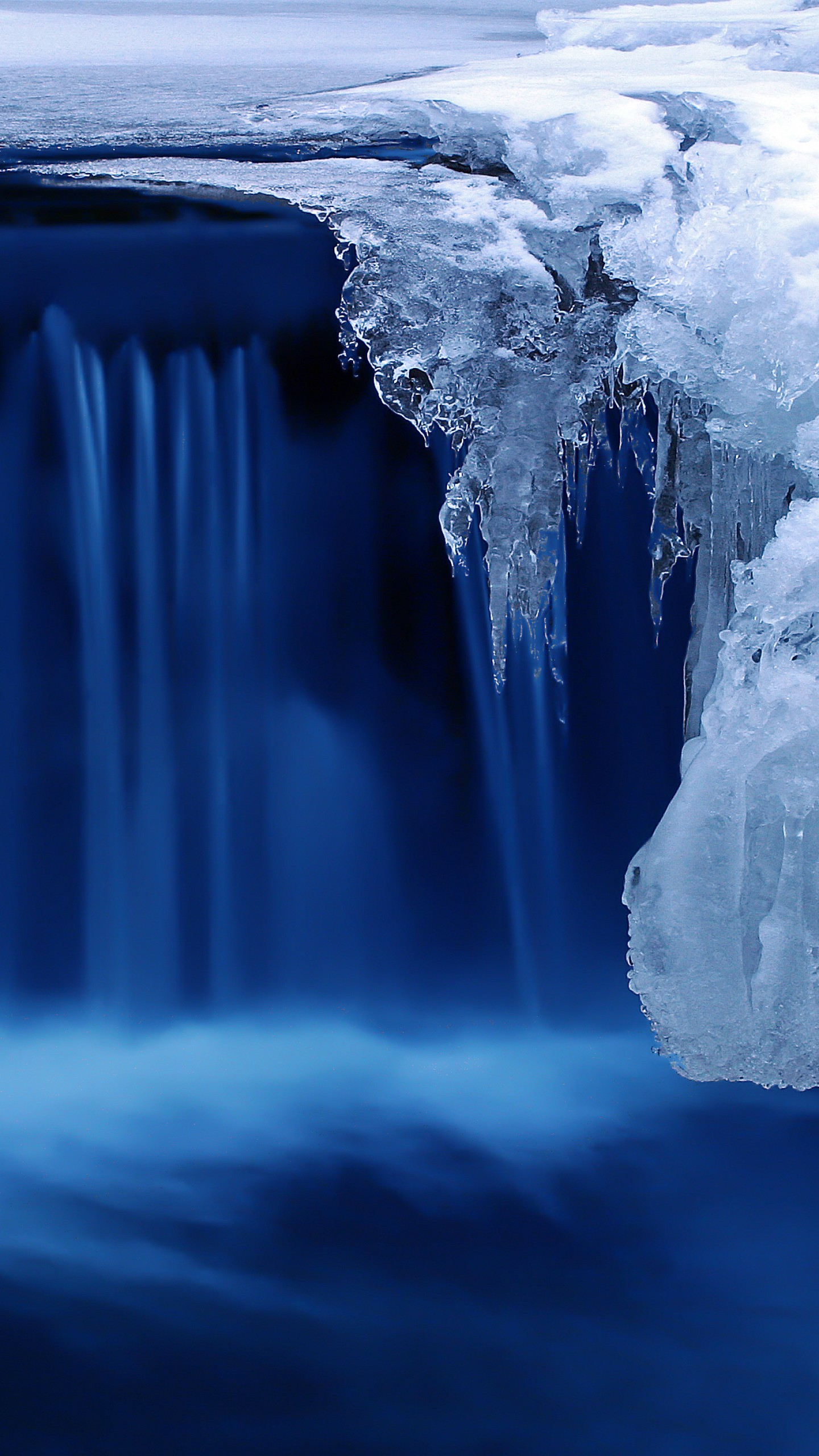 Wallpaper Lake, 4k, HD Wallpaper, Waterfall, Water, Snow