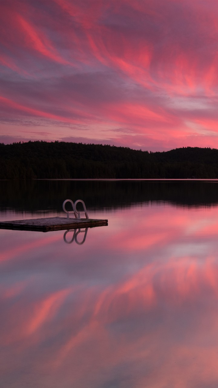 Wallpaper Lake 4k Hd Wallpaper Sea Pink Sunset