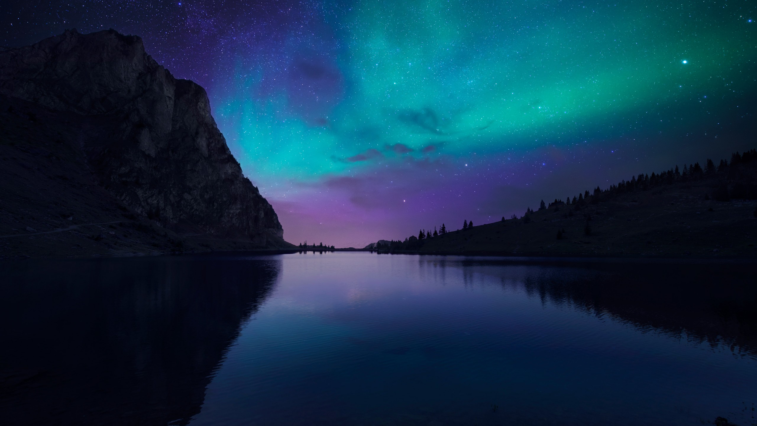 Wallpaper Lake Aurora 4k Hd Wallpaper Florida Night Sky Stars
