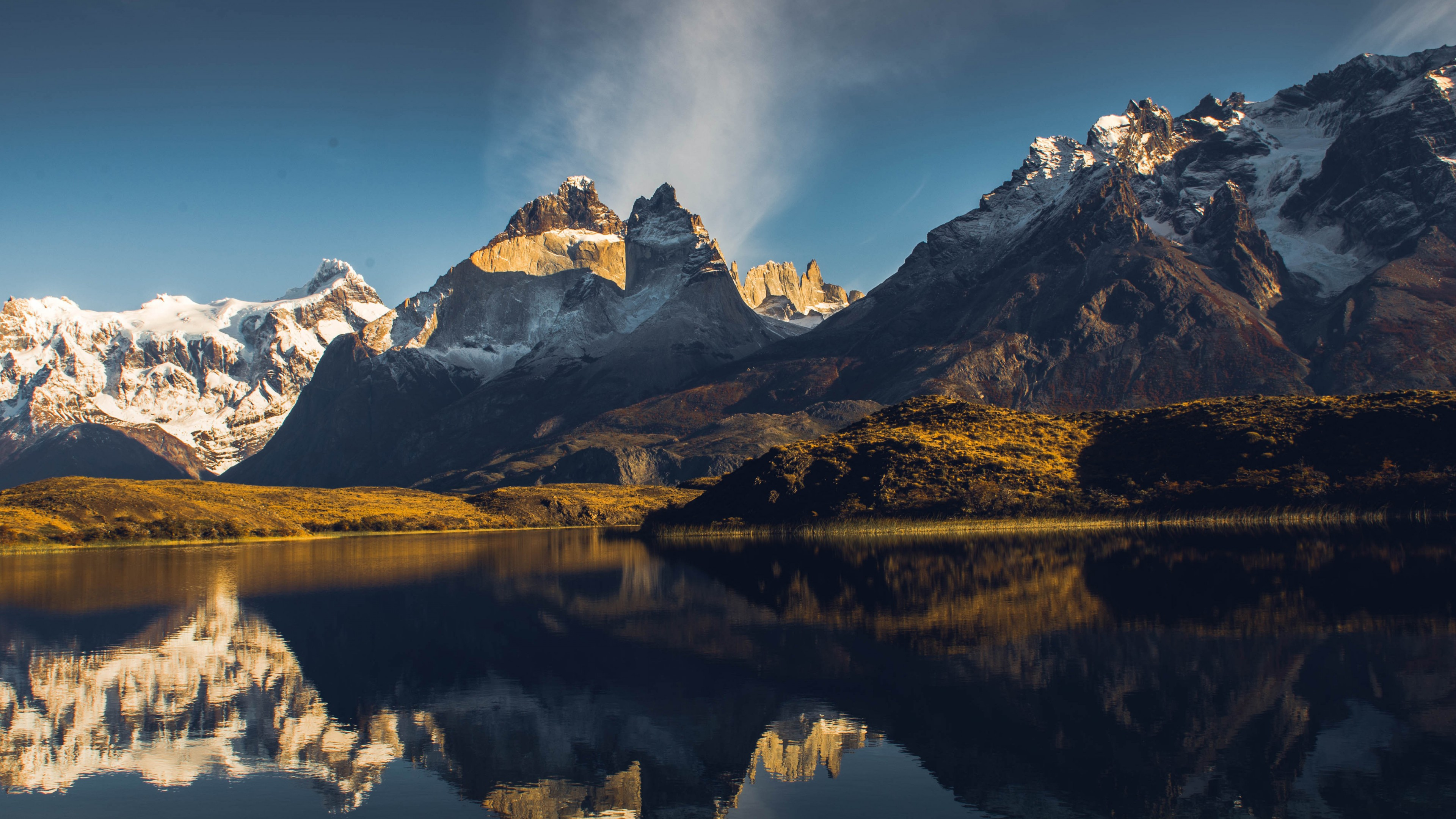 Wallpaper Lake Gray Torres del Paine Chile mountains