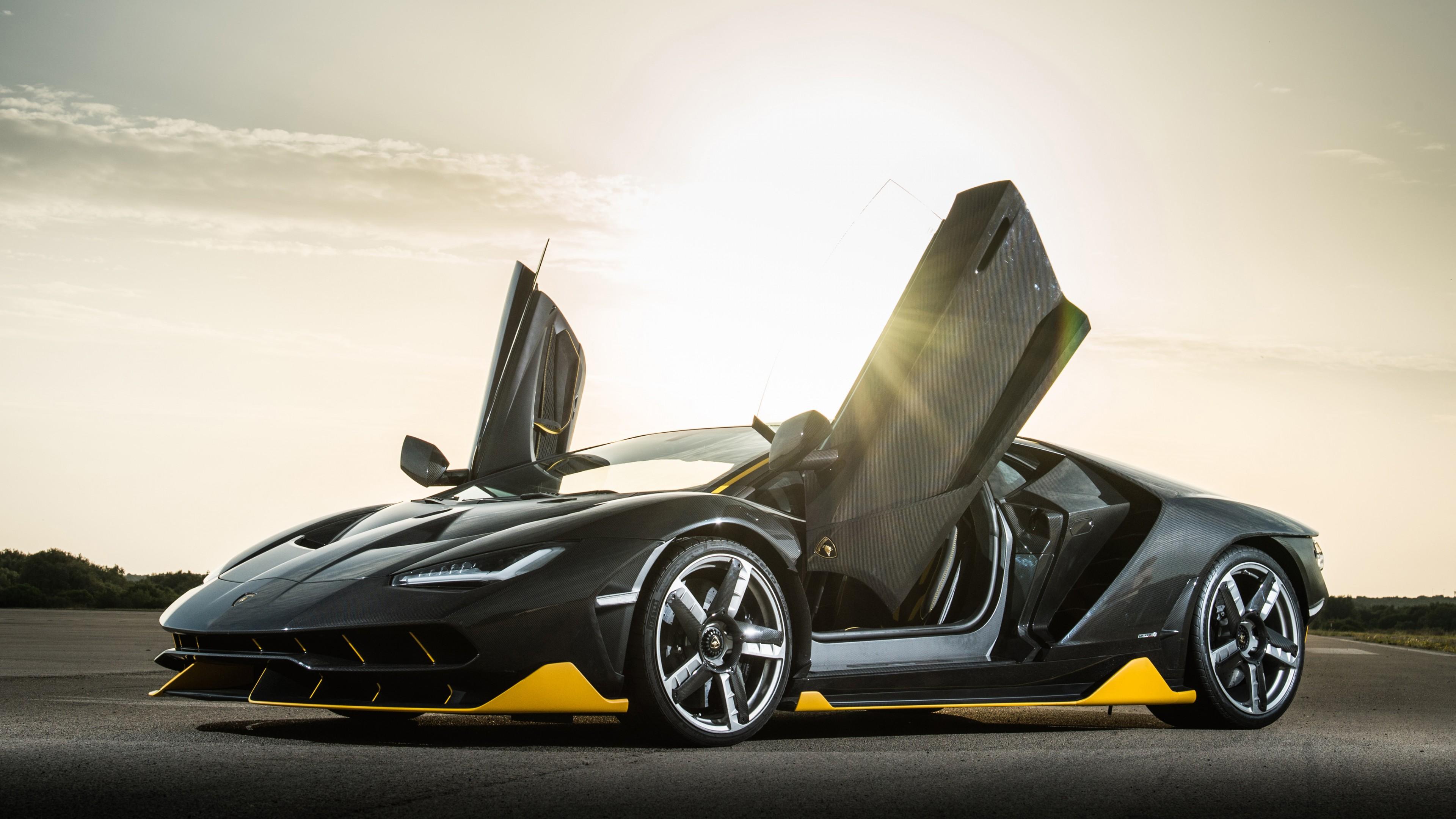 Wallpaper Lamborghini Centenario Coupe Supercar Black