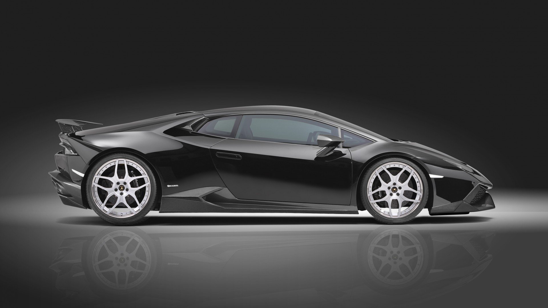 Wallpaper Lamborghini Huracan Lp610 4 Supercar Black