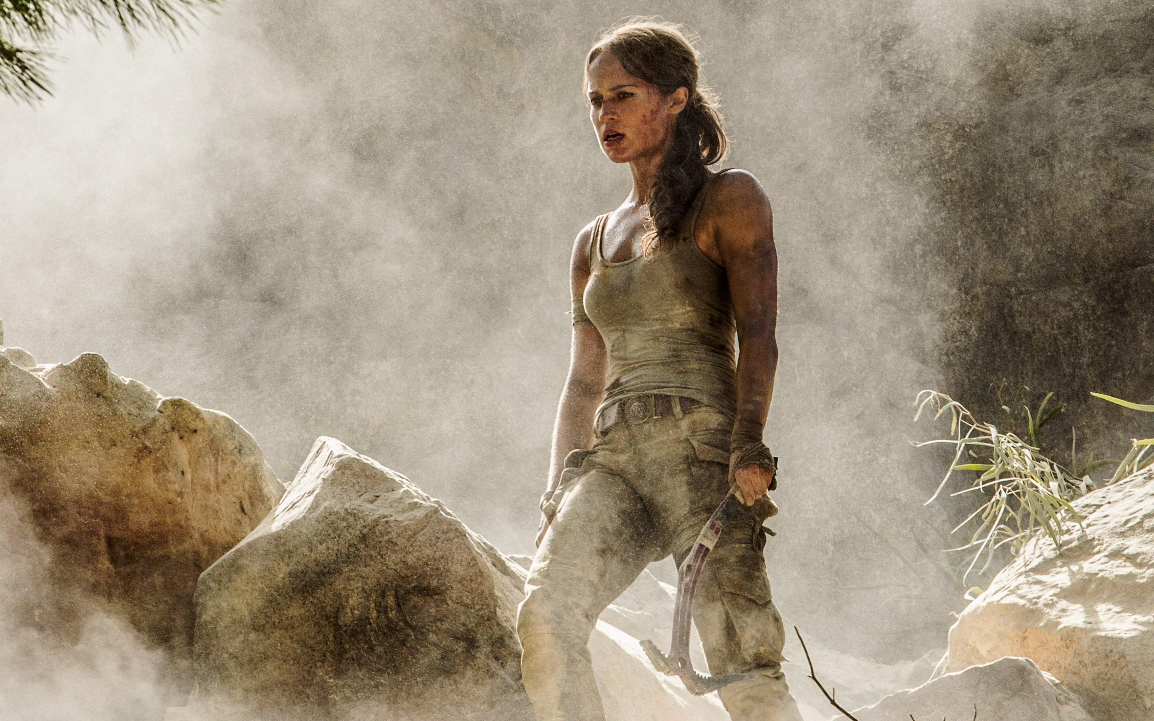 Wallpaper Lara Croft Tomb Raider Alicia Vikander 4k Movies 15953