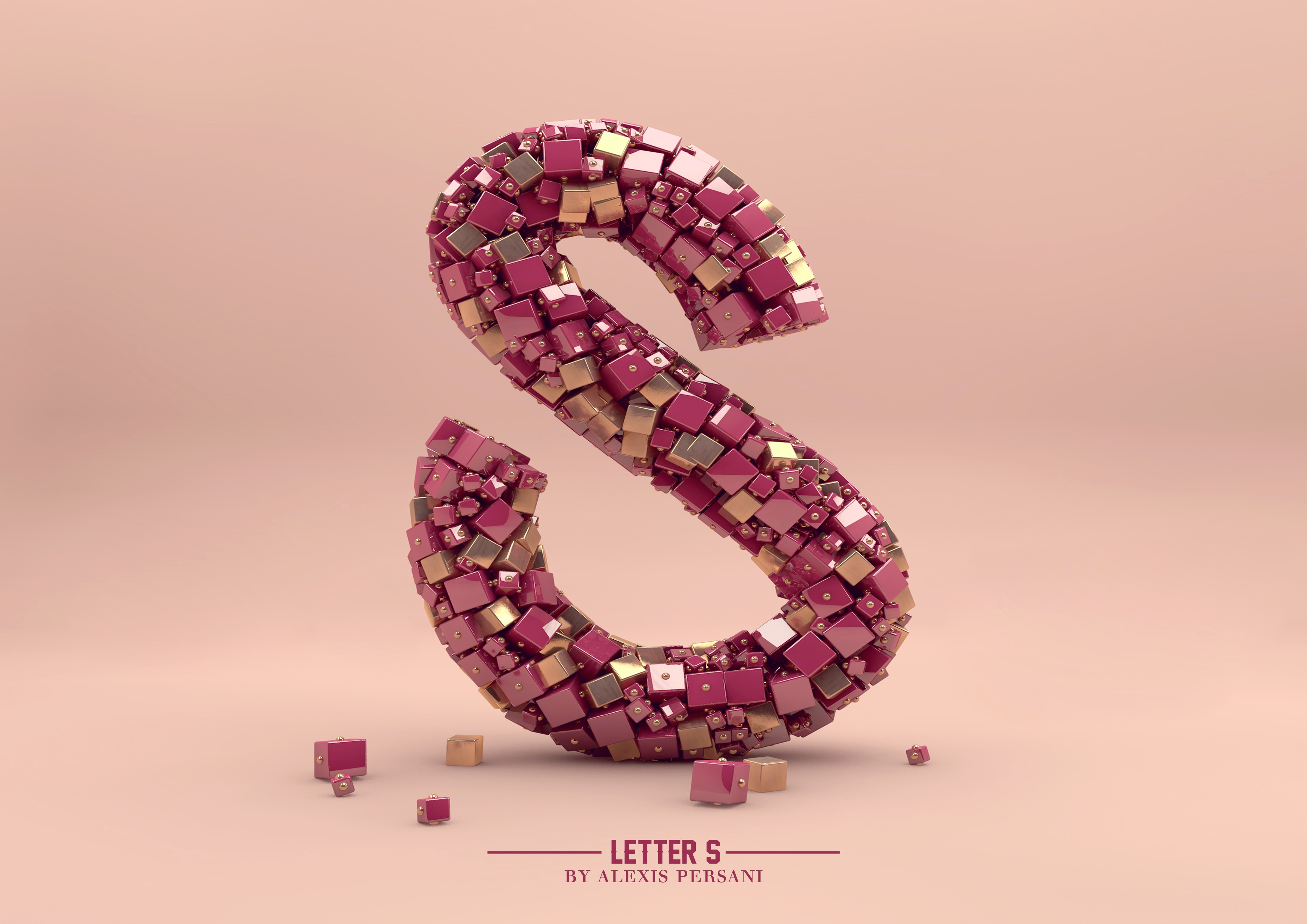 Wallpaper Letter Typography Abstract 3D 4k 16391