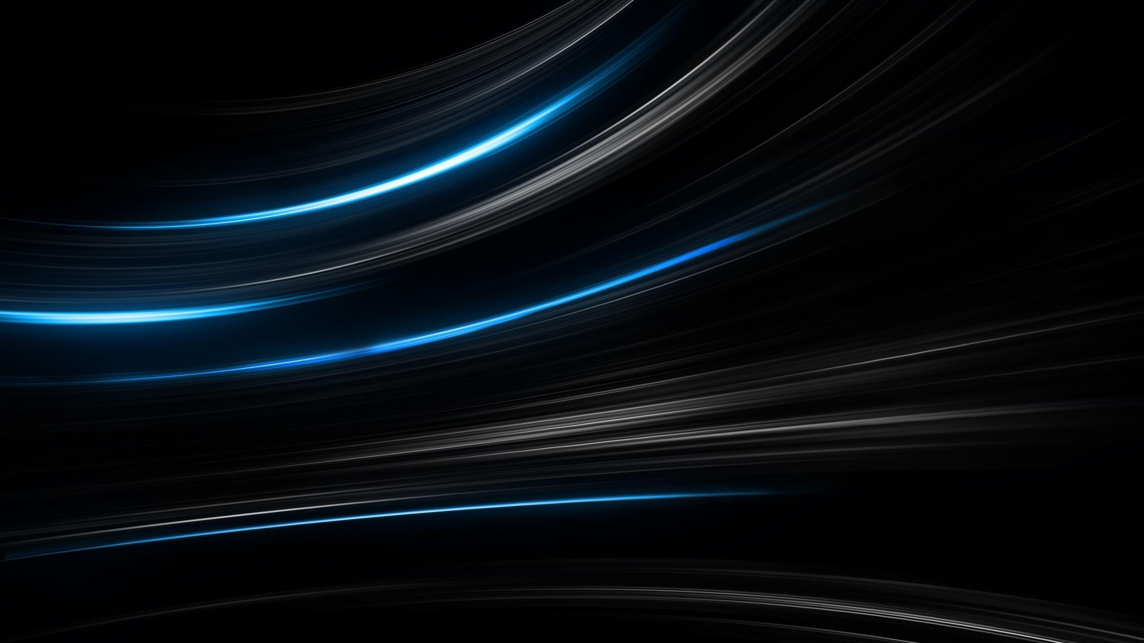 Wallpaper Lines Black Blue 4k Os 15378