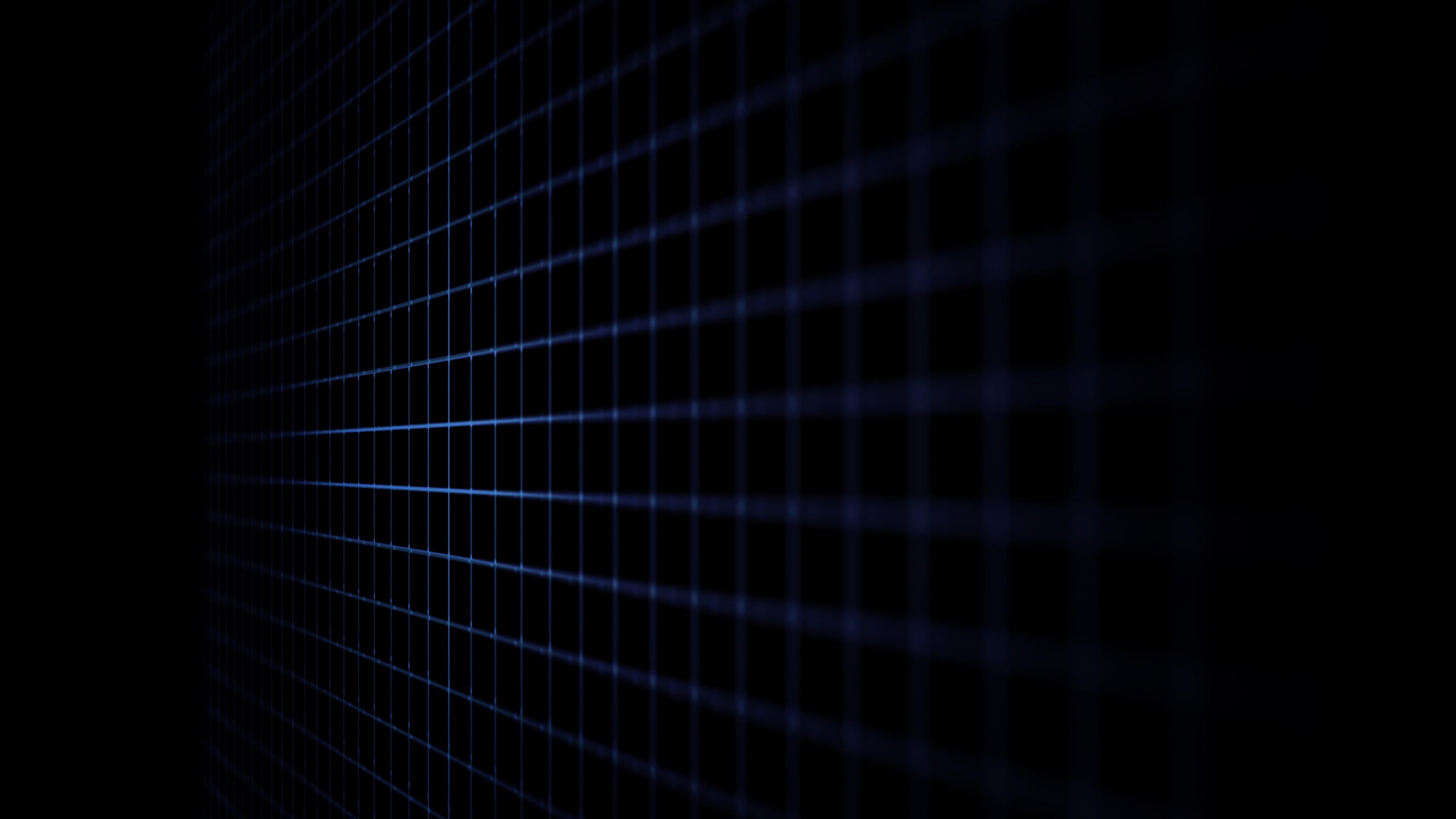 Wallpaper lines grid black 4k Abstract
