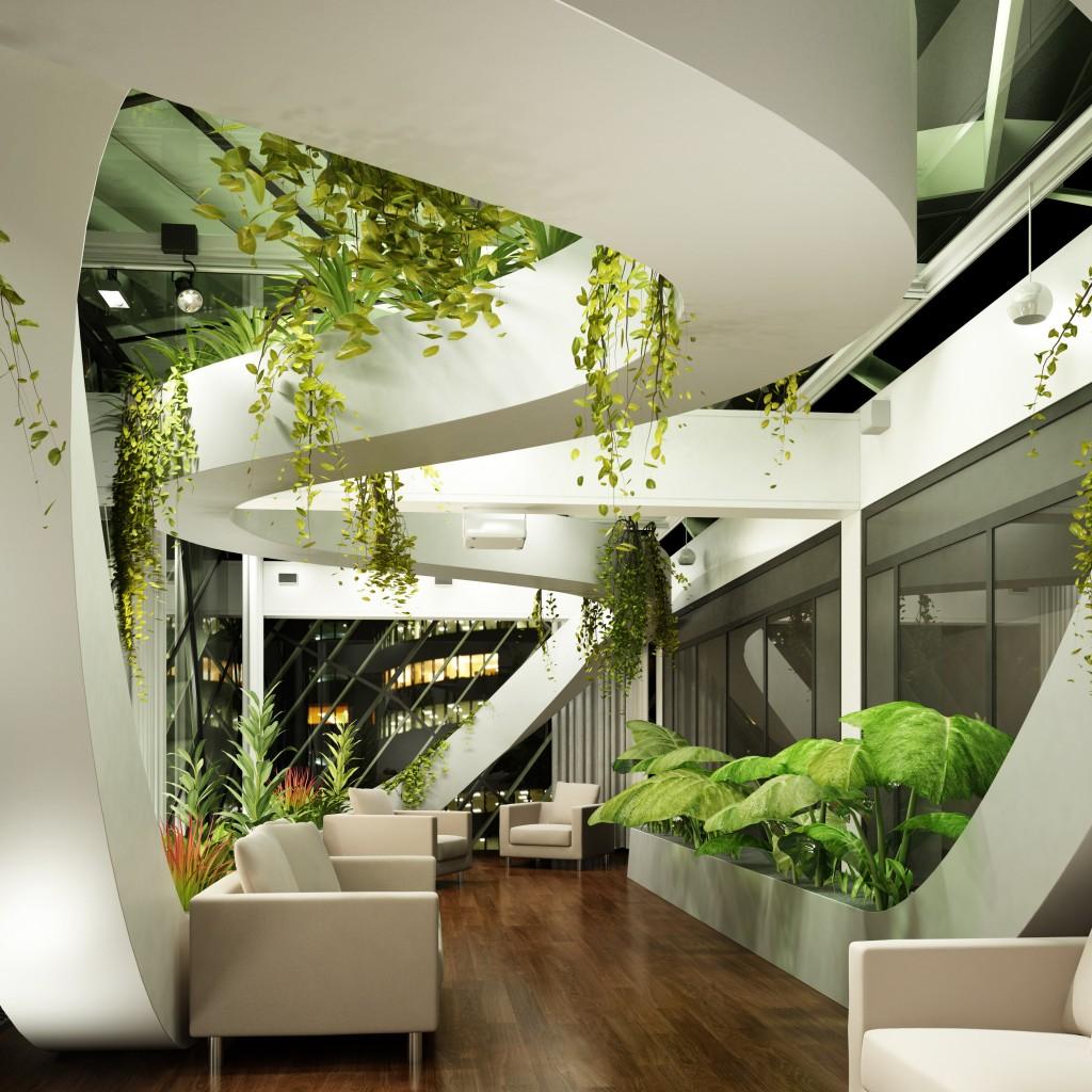 High Tech Living Room
