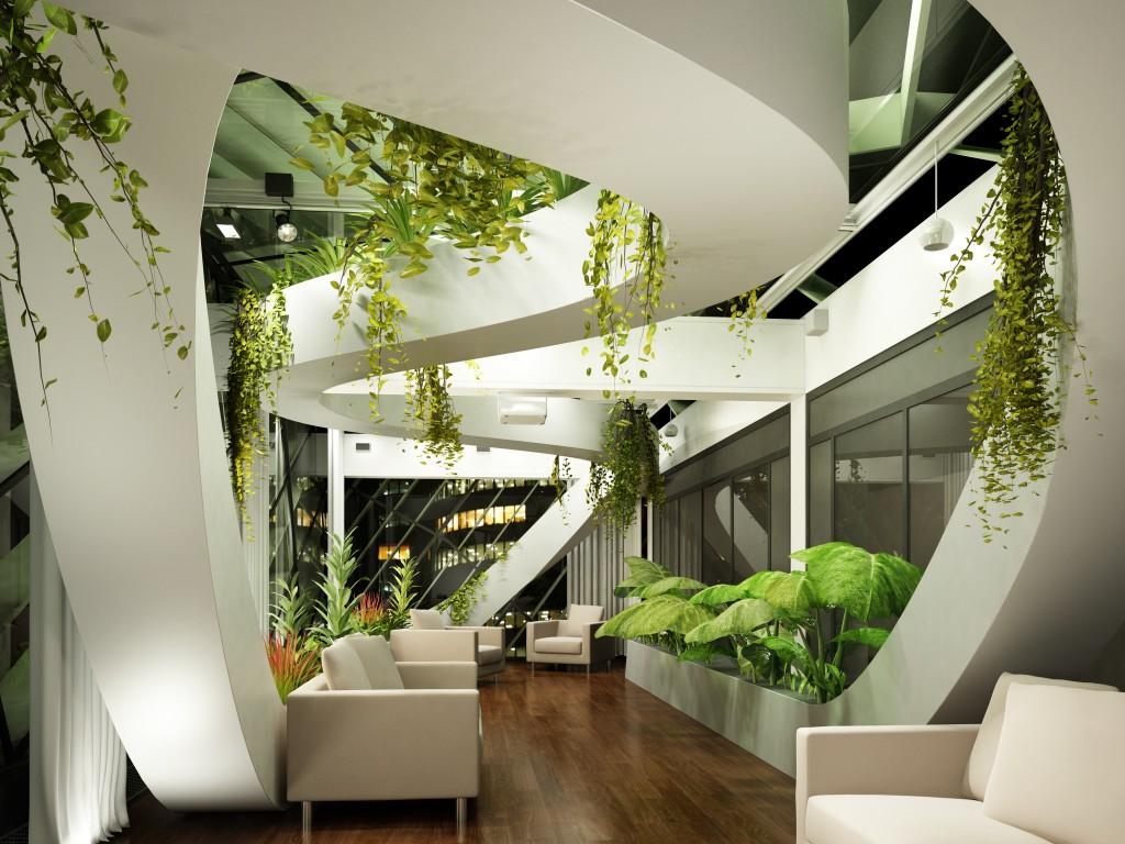 Living room wallpaper architecture living room design for Hi tech living room designs