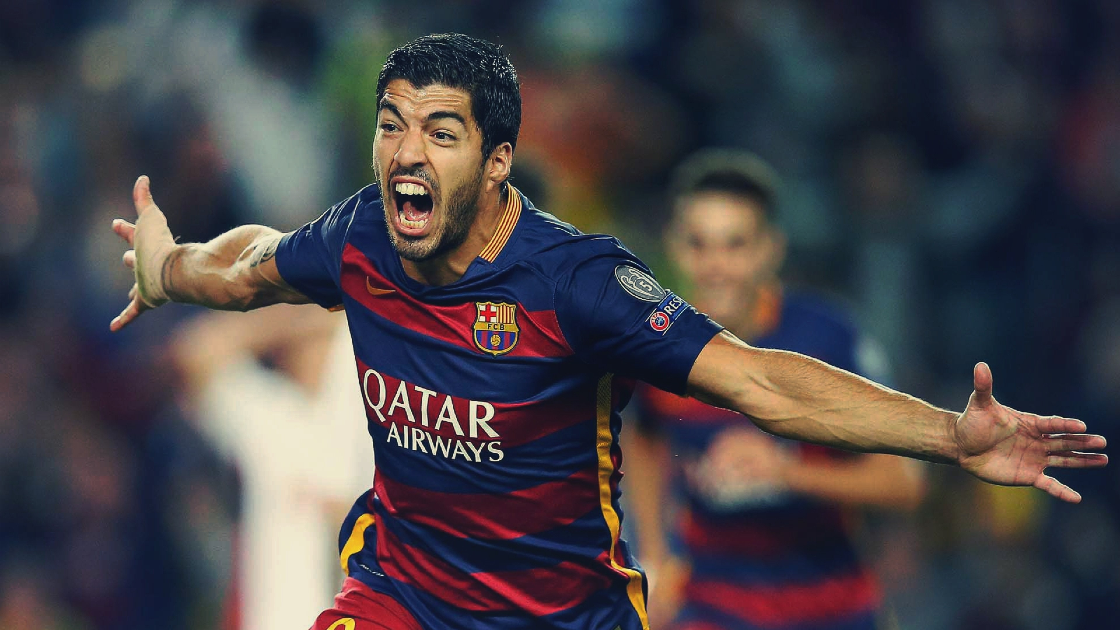 Wallpaper Luis Su 225 Rez Barcelona Fcb Soccer 4k Sport