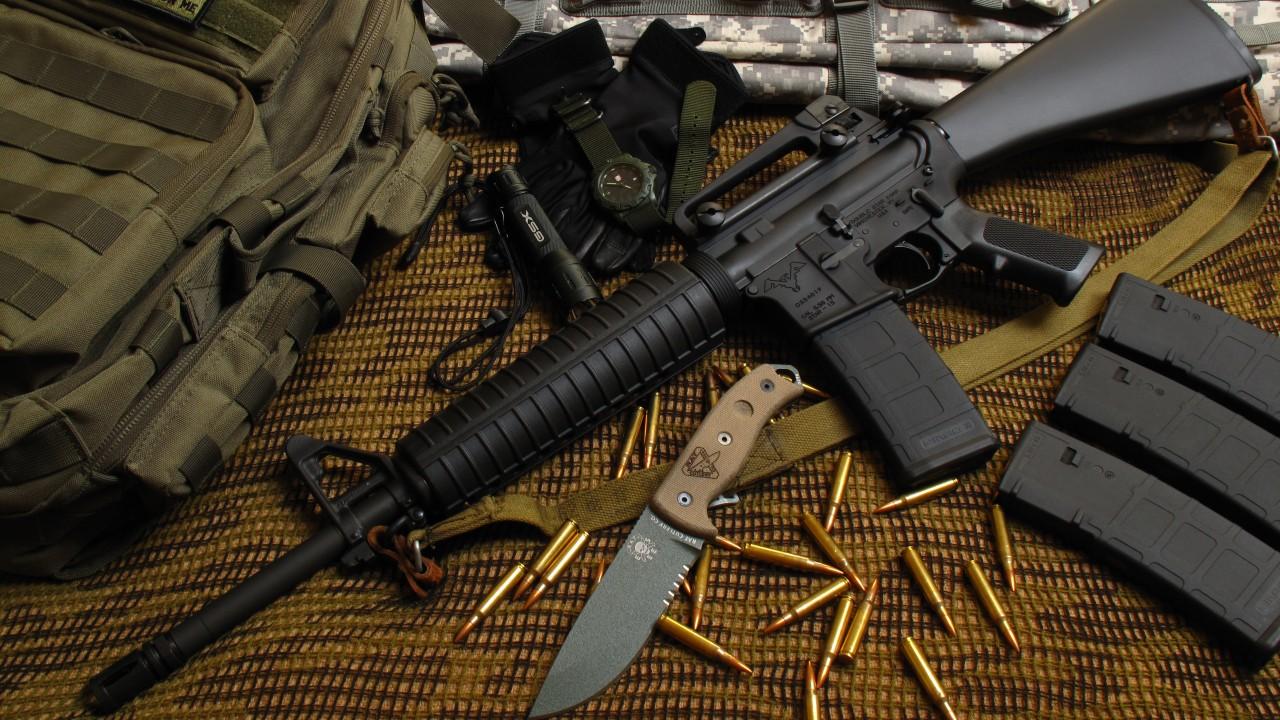 Gun Cool Cars >> Wallpaper M16 rifle, M16A1, M4A1, U.S. Army, bullets, ammunition, camo, Military #1721
