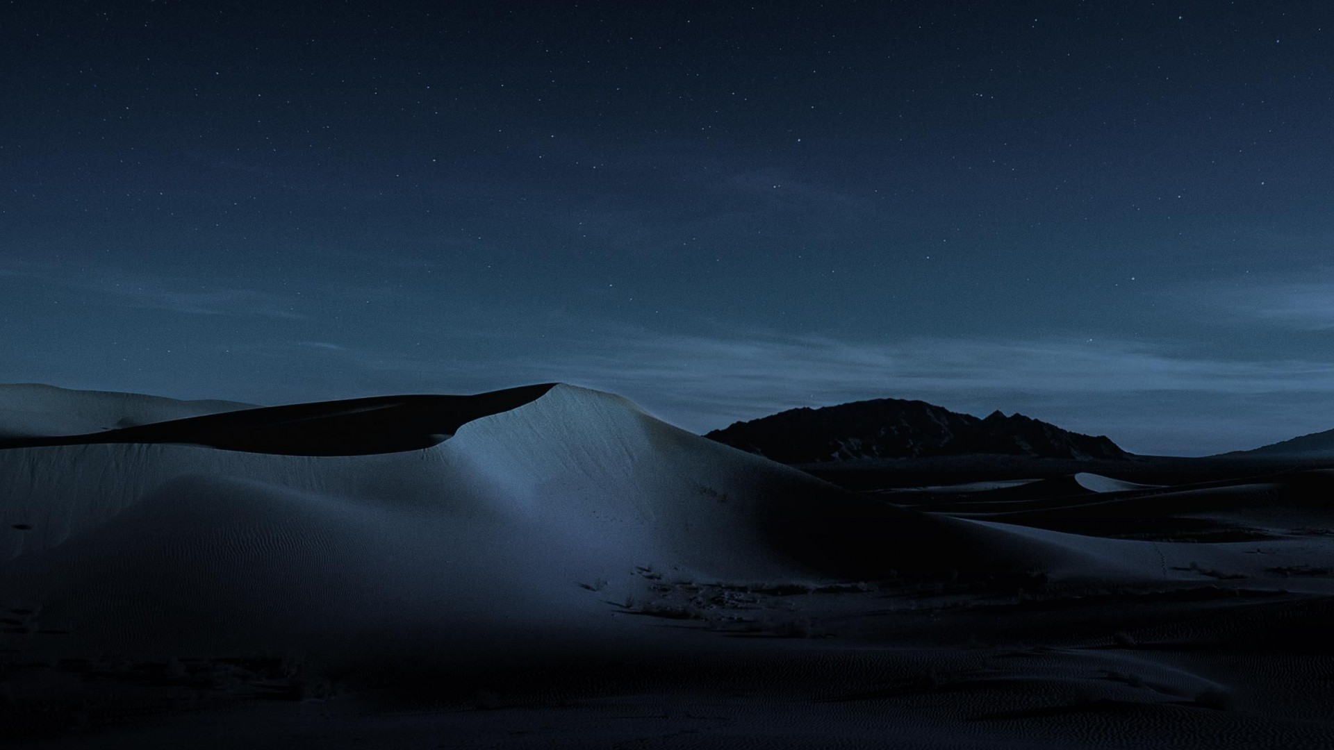 Wallpaper macOS Mojave, Night, Dunes, 4K, OS #18885