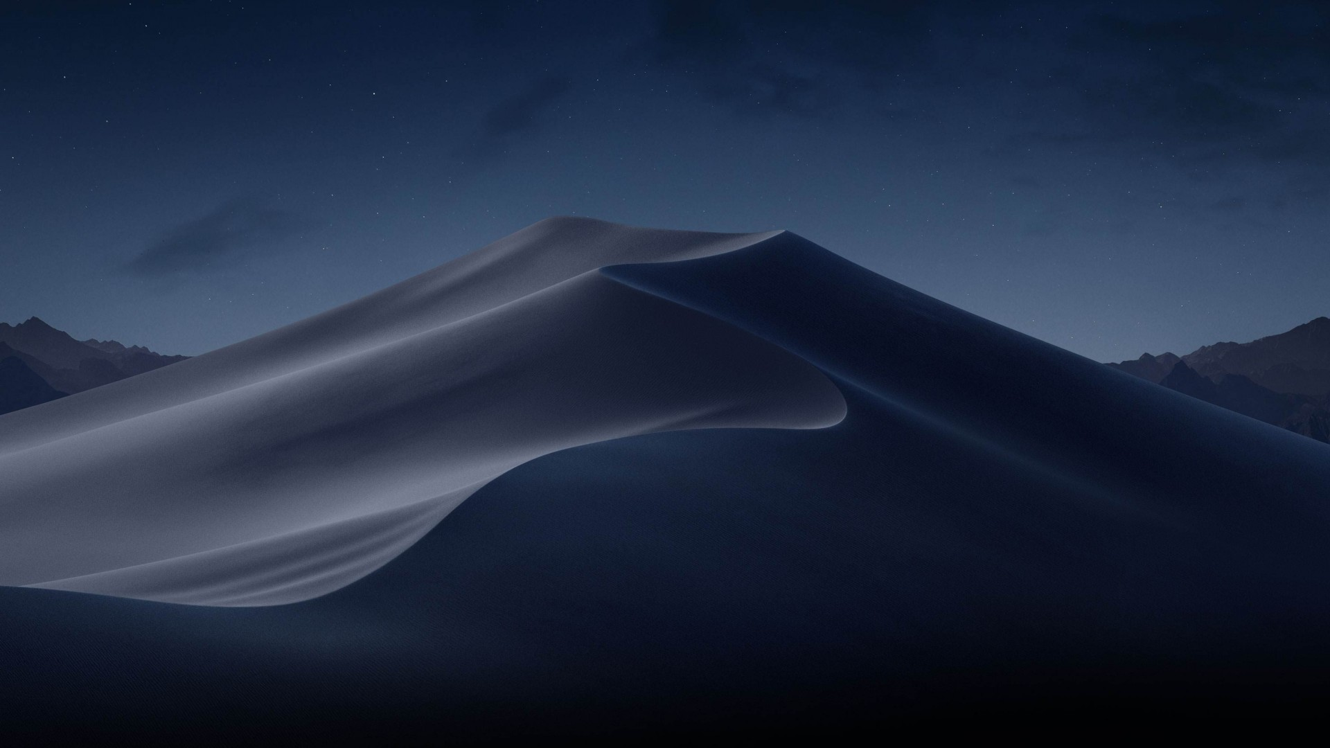 Wallpaper macOS Mojave, Night, Dunes, WWDC 2018, 4K, OS #18883