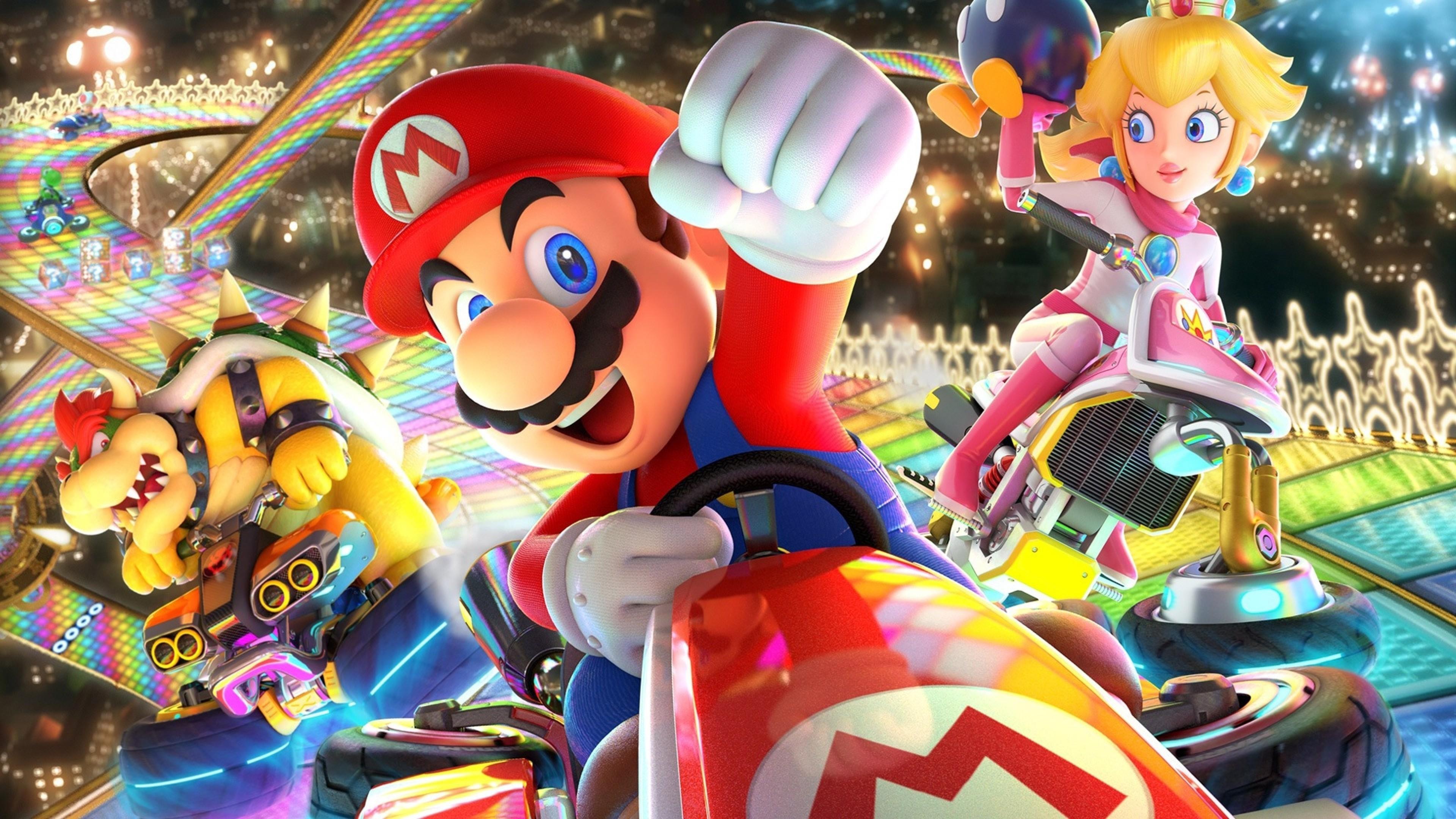 Wallpaper Mario Kart 8 Deluxe poster 4k Games 17792