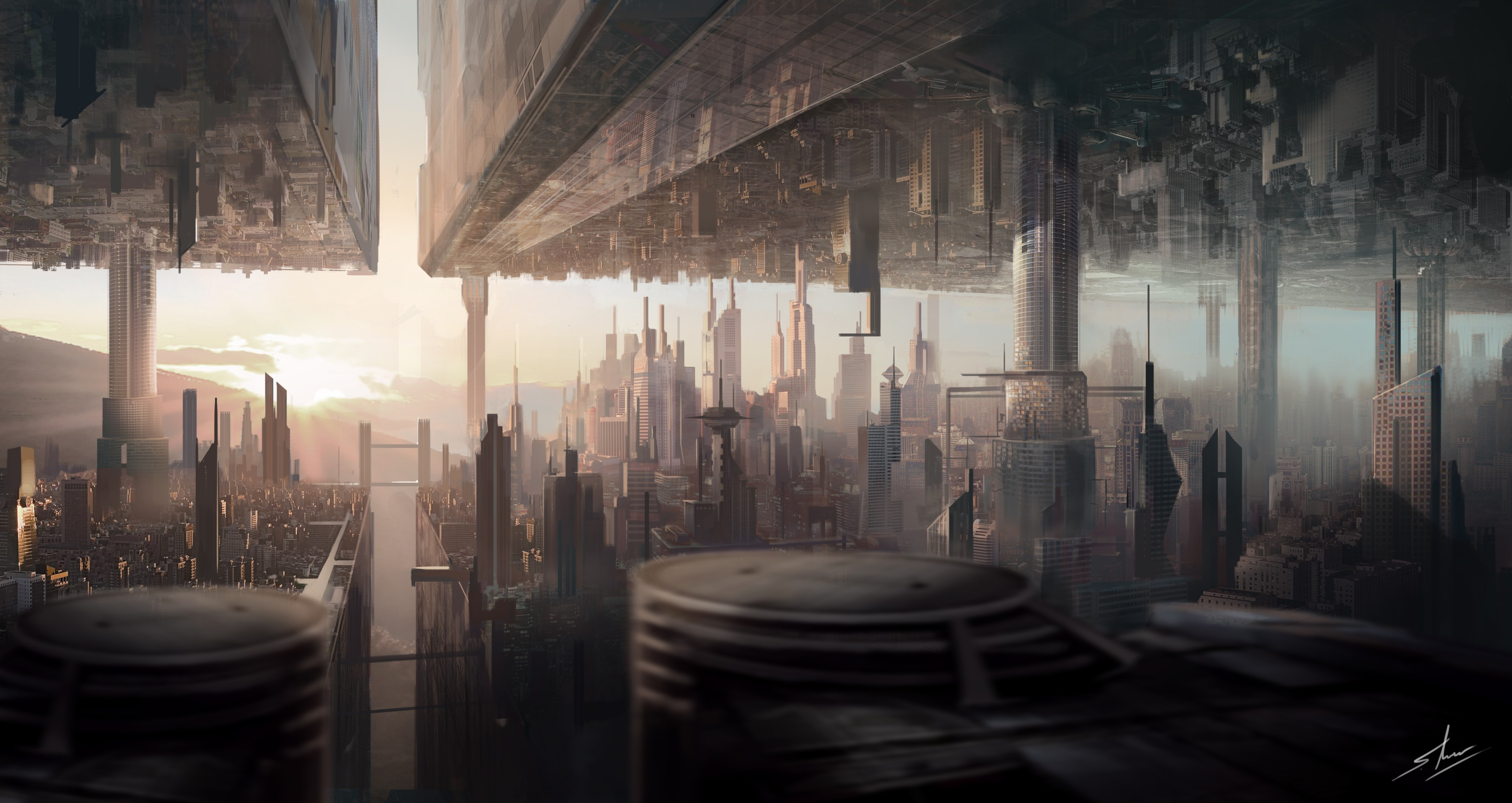 art futuristic cities - photo #41