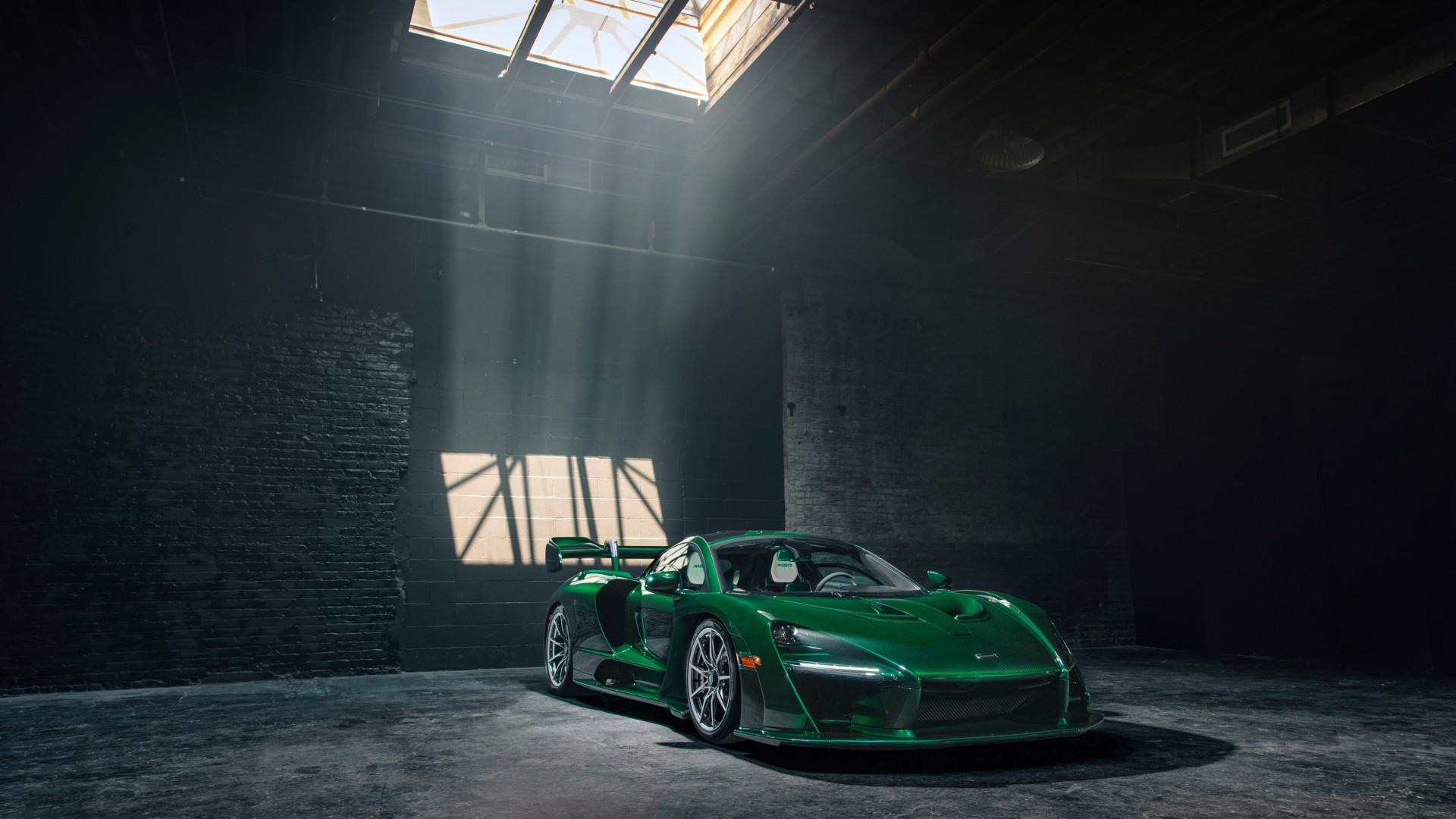 Wallpaper McLaren Senna GTR Green Carbon, supercar, 2018 ...