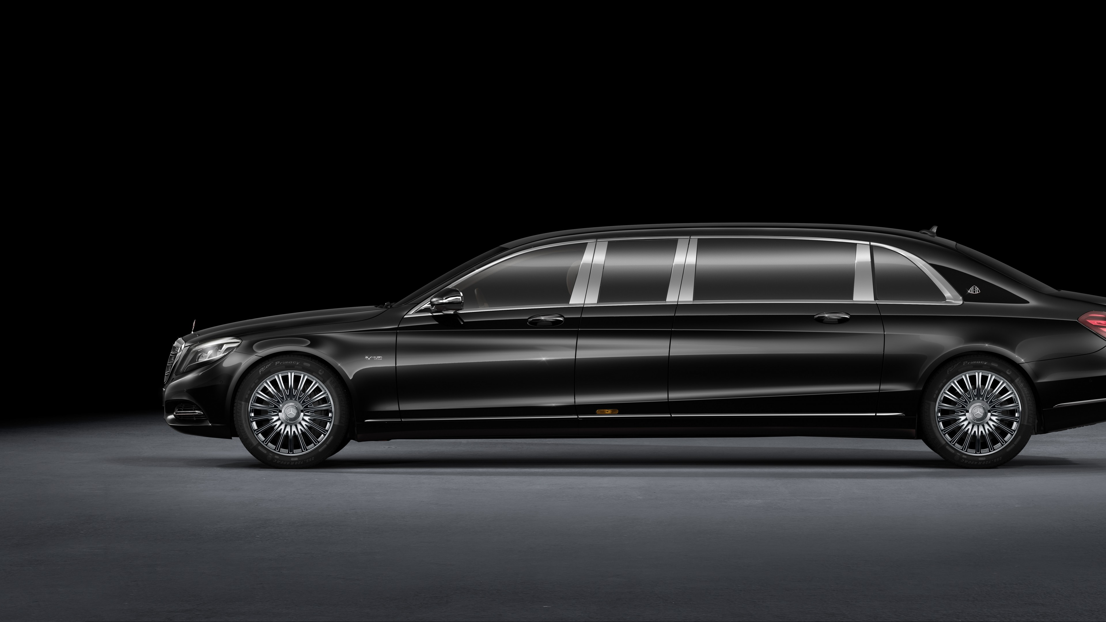Wallpaper Mercedes Maybach S600 Pullman Sedan Grey