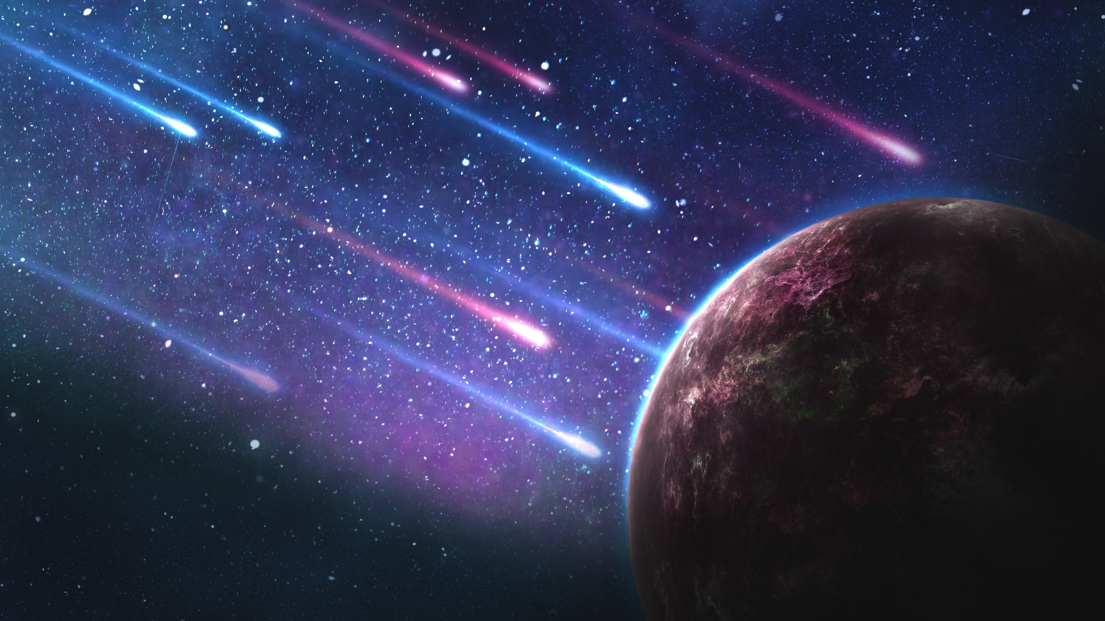 Space galaxy and planets 4k wallpapers and backgrounds page 2 meteorites stars planet 4k horizontal voltagebd Choice Image
