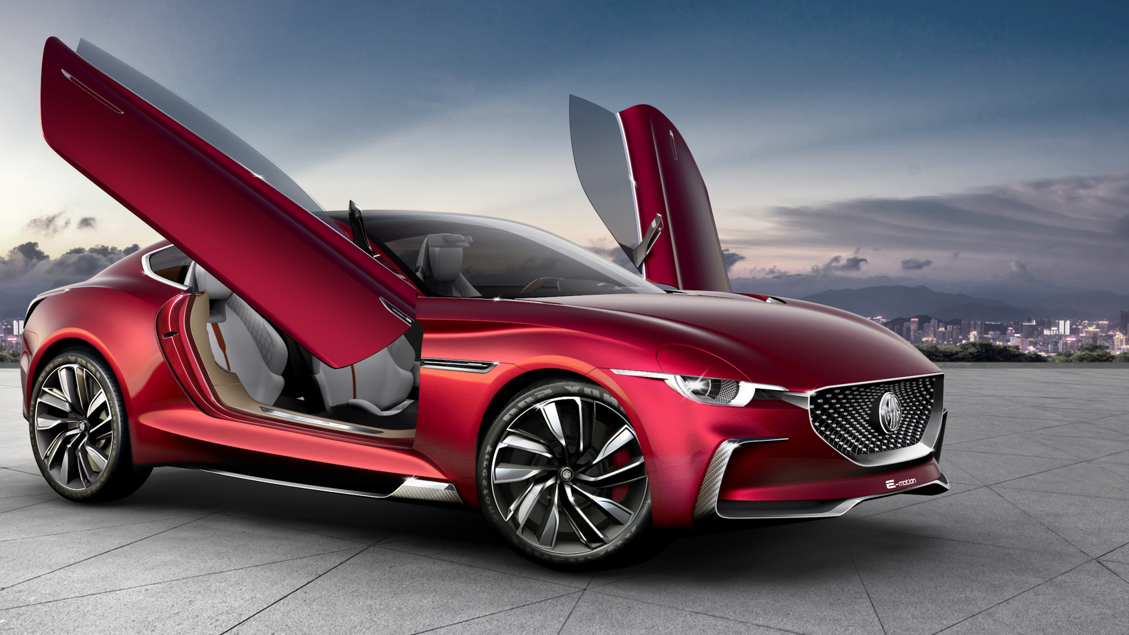 Wallpaper MG E-Motion, electric cars, 2020 Cars, 4k, Cars ...