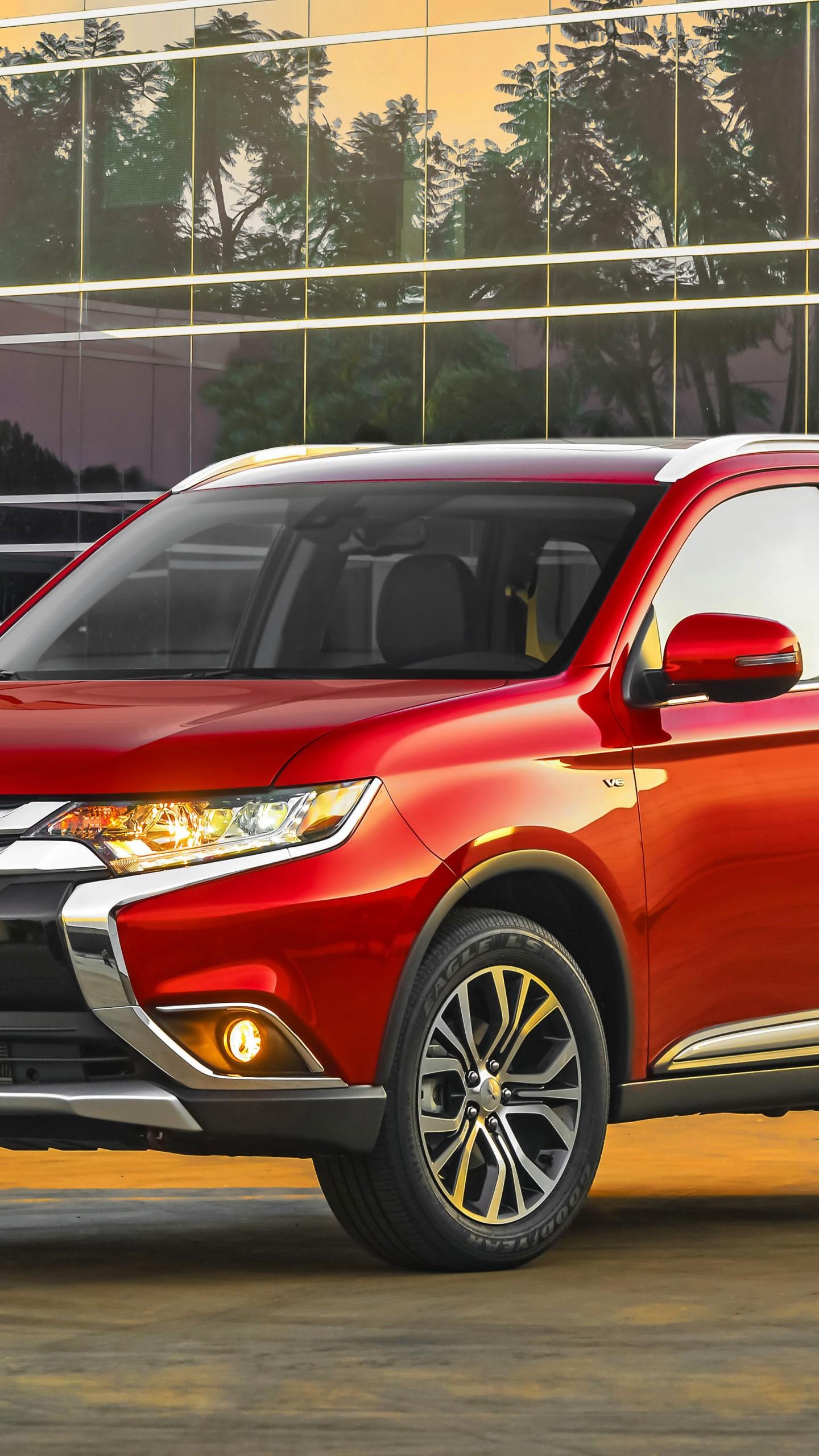Lexus Electric Car >> Wallpaper Mitsubishi Outlander, Hybrid, SUV, red, Cars & Bikes #6380